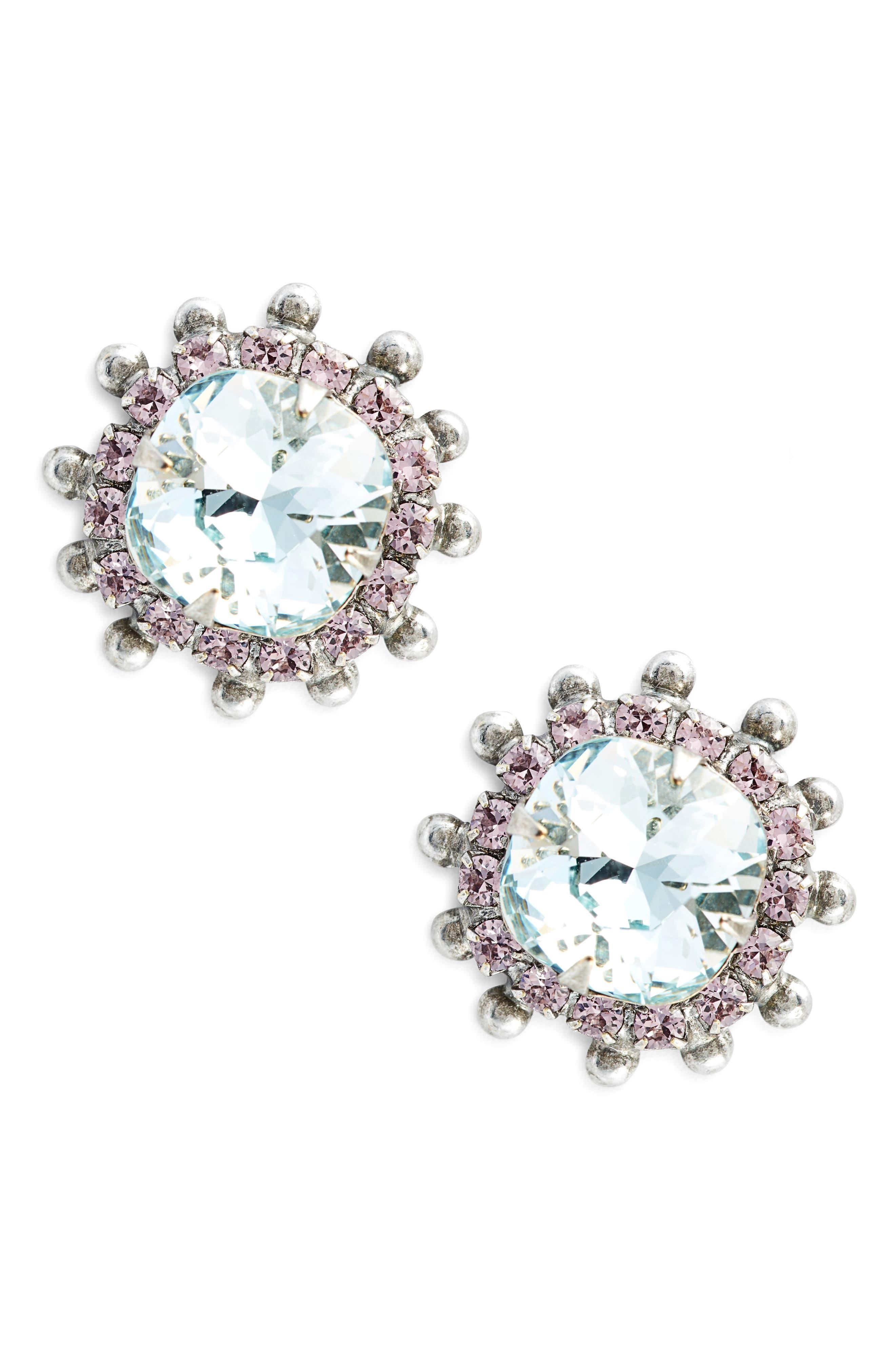 Protea Donna Crystal Earrings,                         Main,                         color, 401