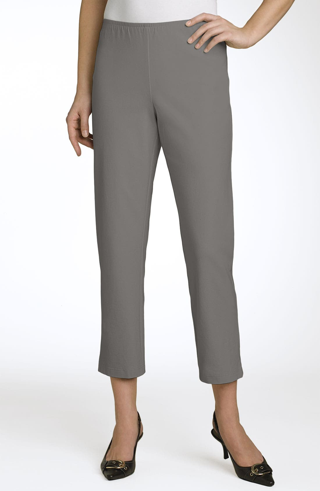Organic Stretch Cotton Twill Ankle Pants,                             Main thumbnail 10, color,