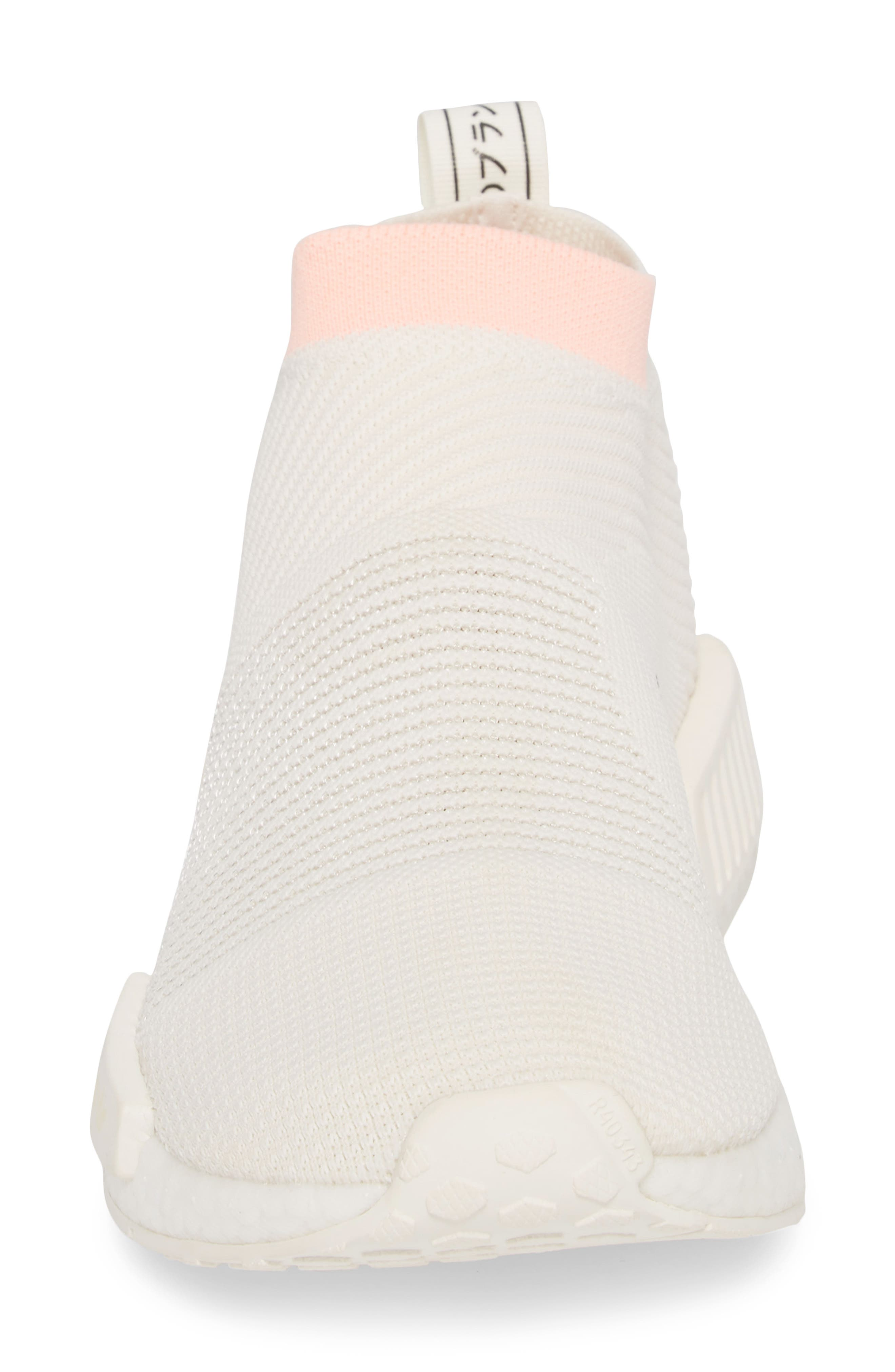 NMD_CS1 Primeknit Sneaker,                             Alternate thumbnail 4, color,                             CLOUD WHITE/ CLEAR ORANGE