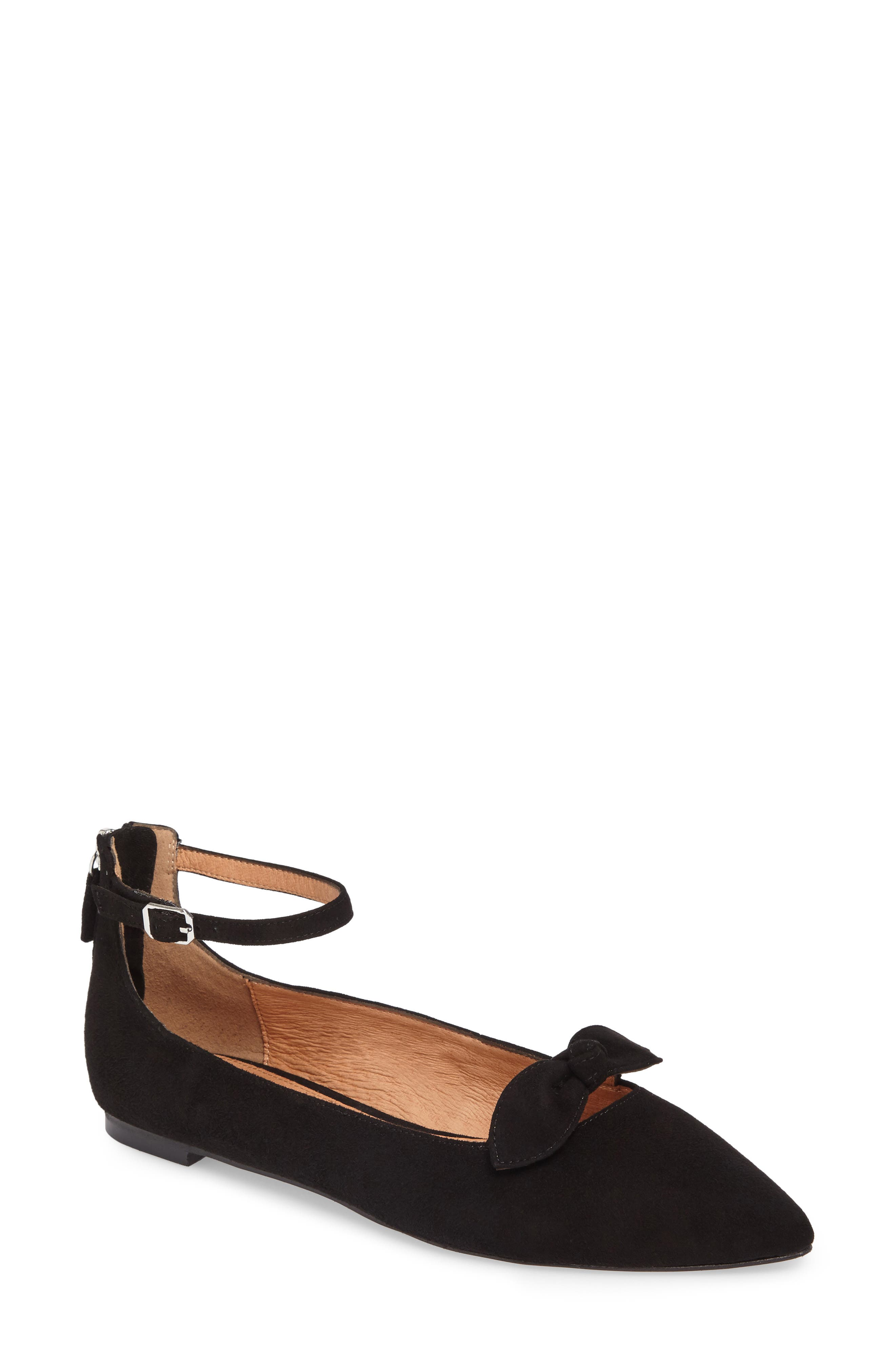 Paisley Ankle Strap Flat,                         Main,                         color, 001