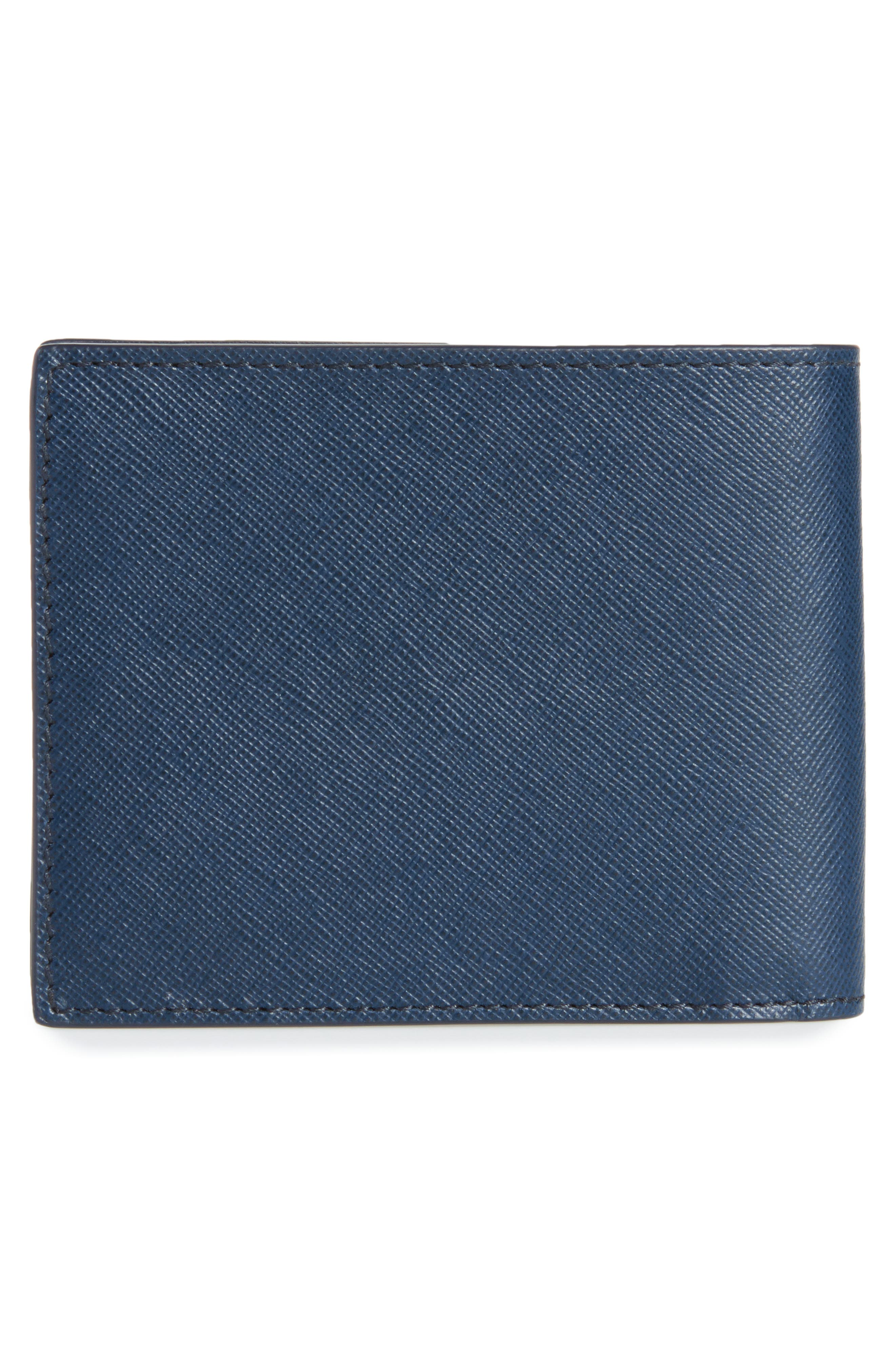 Sartorial Leather Bifold Wallet,                             Alternate thumbnail 6, color,