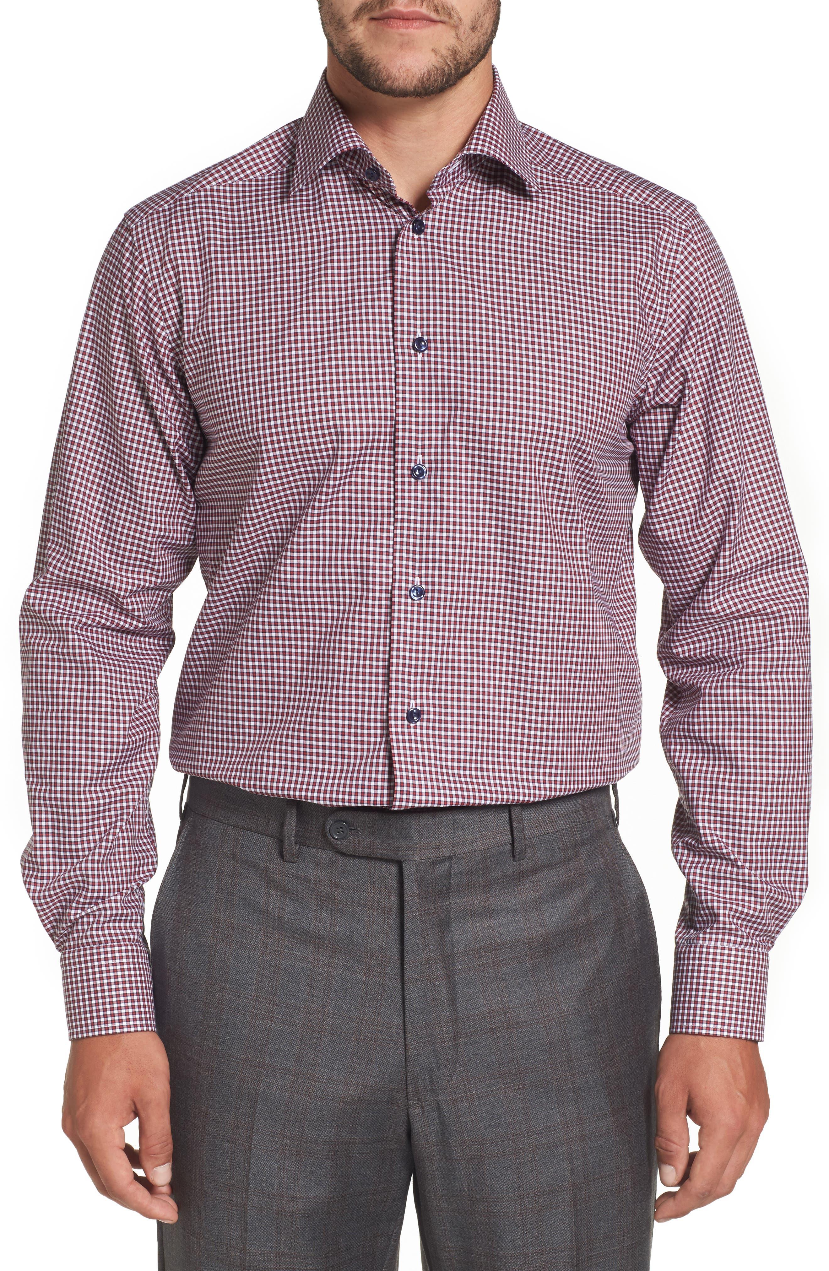 Contemporary Fit Check Dress Shirt,                             Main thumbnail 1, color,                             651