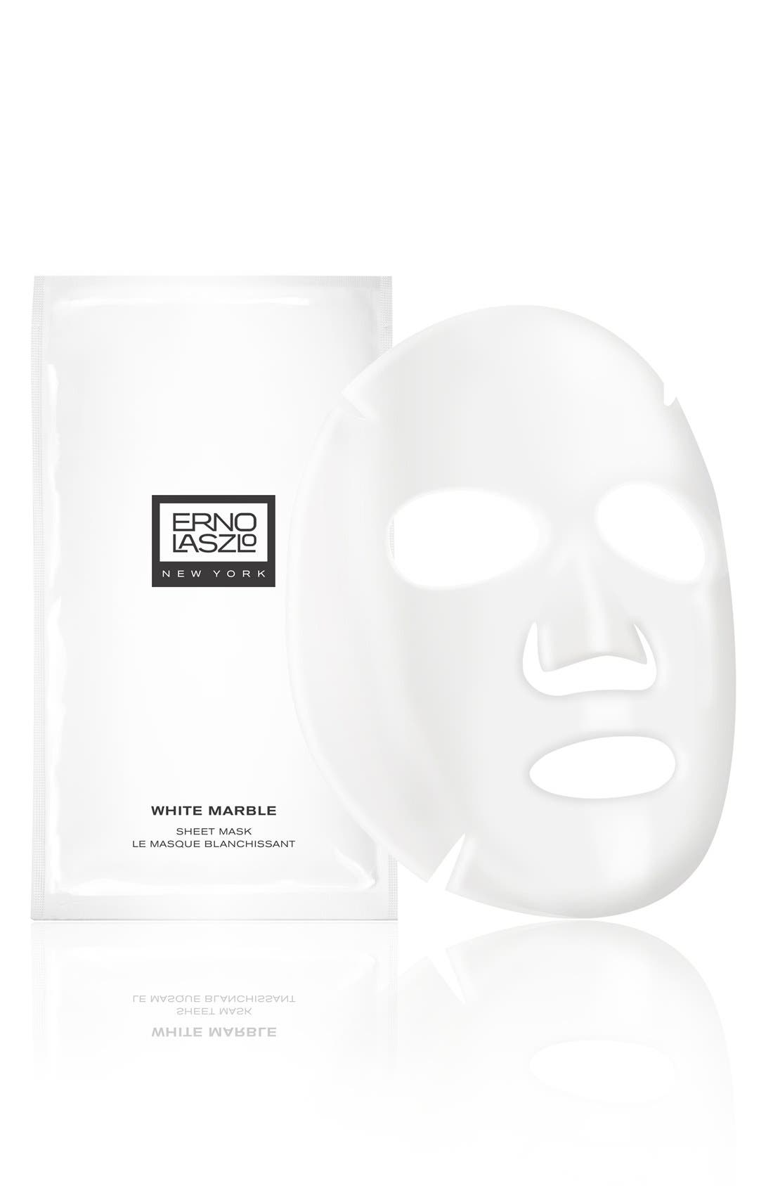 'White Marble' Sheet Mask,                             Main thumbnail 1, color,                             000