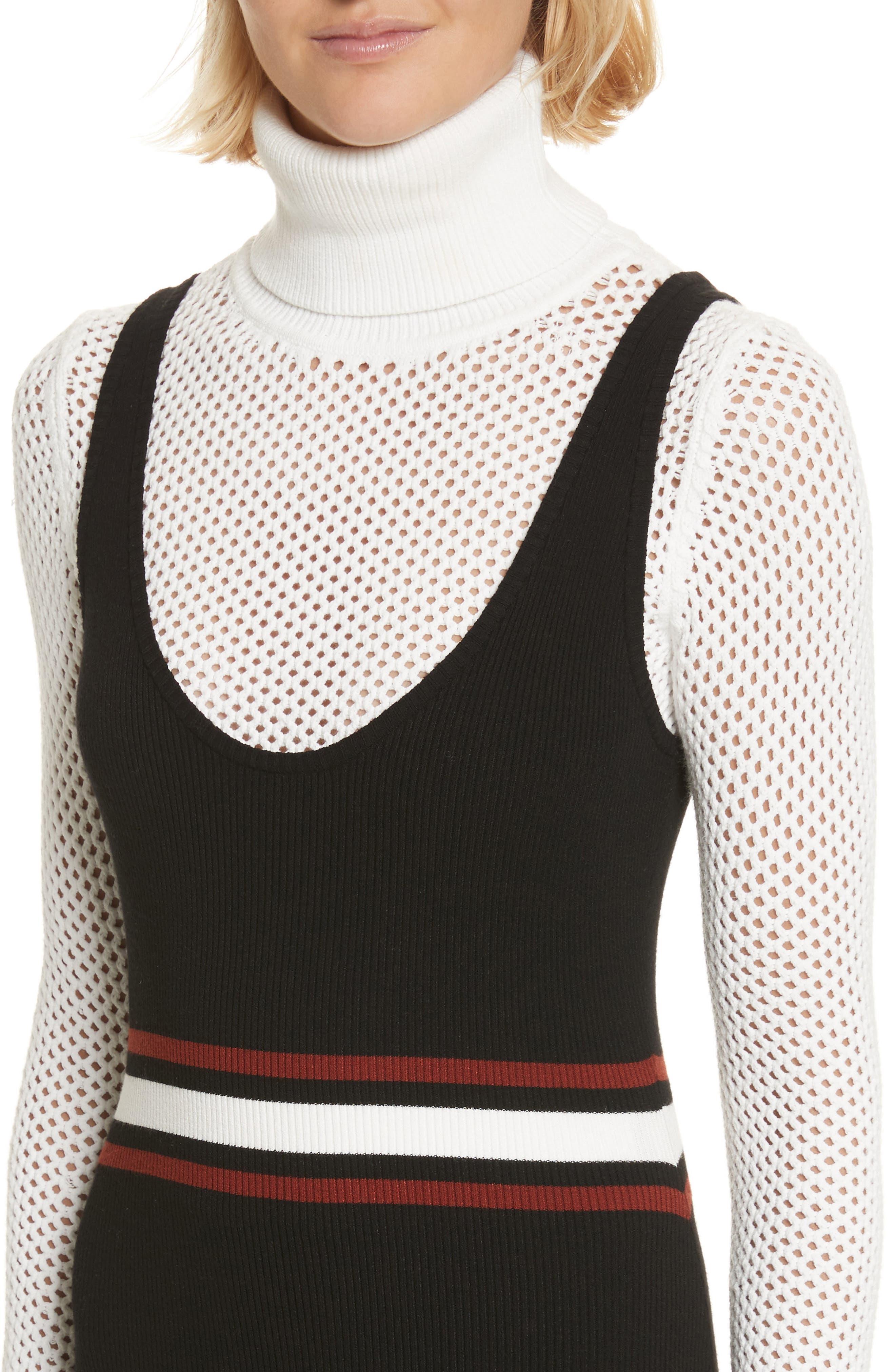 Anders Rib Knit Dress,                             Alternate thumbnail 4, color,                             002