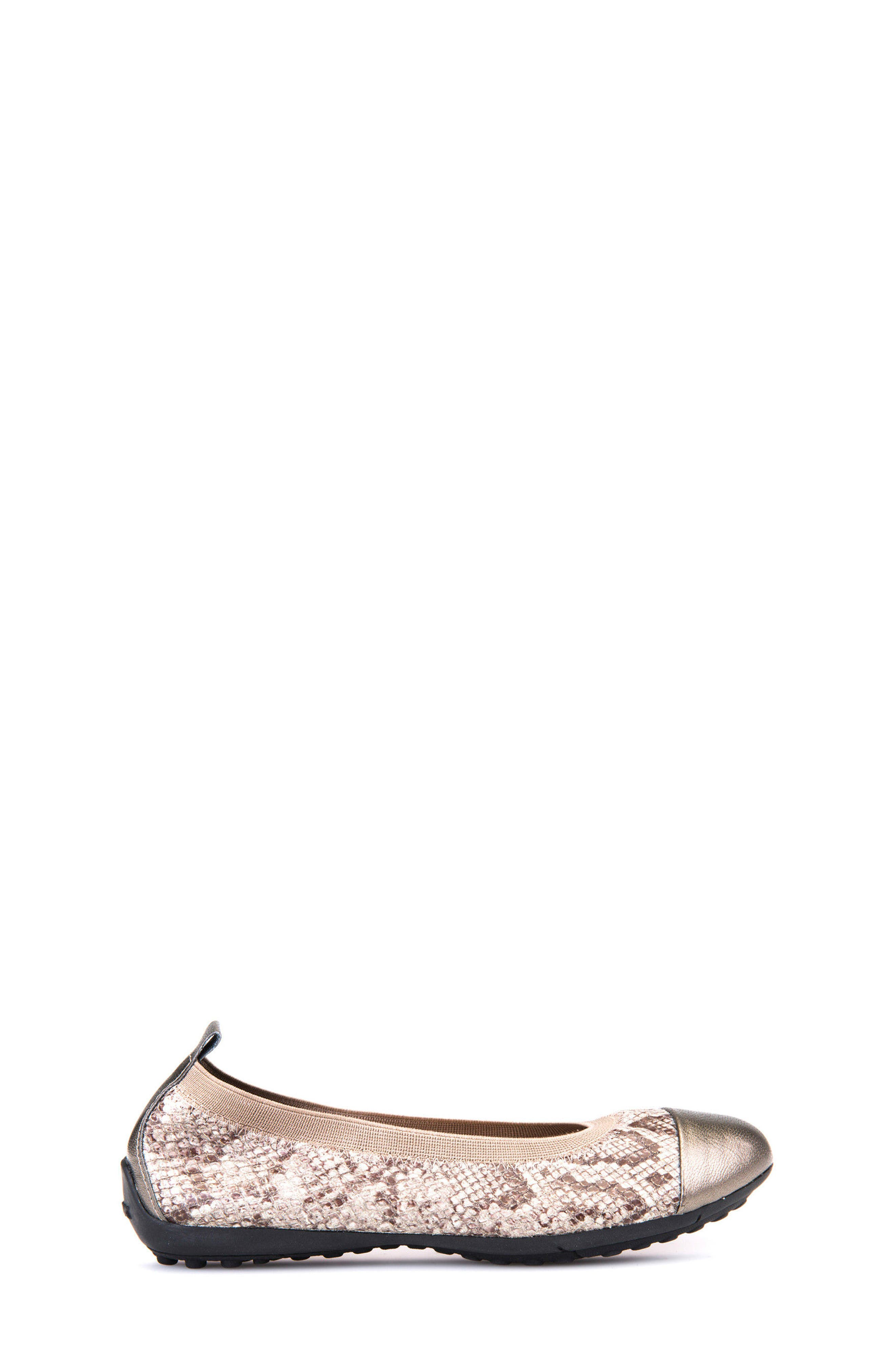 Jr Piuma Cap Toe Ballerina Flat,                             Alternate thumbnail 3, color,                             260