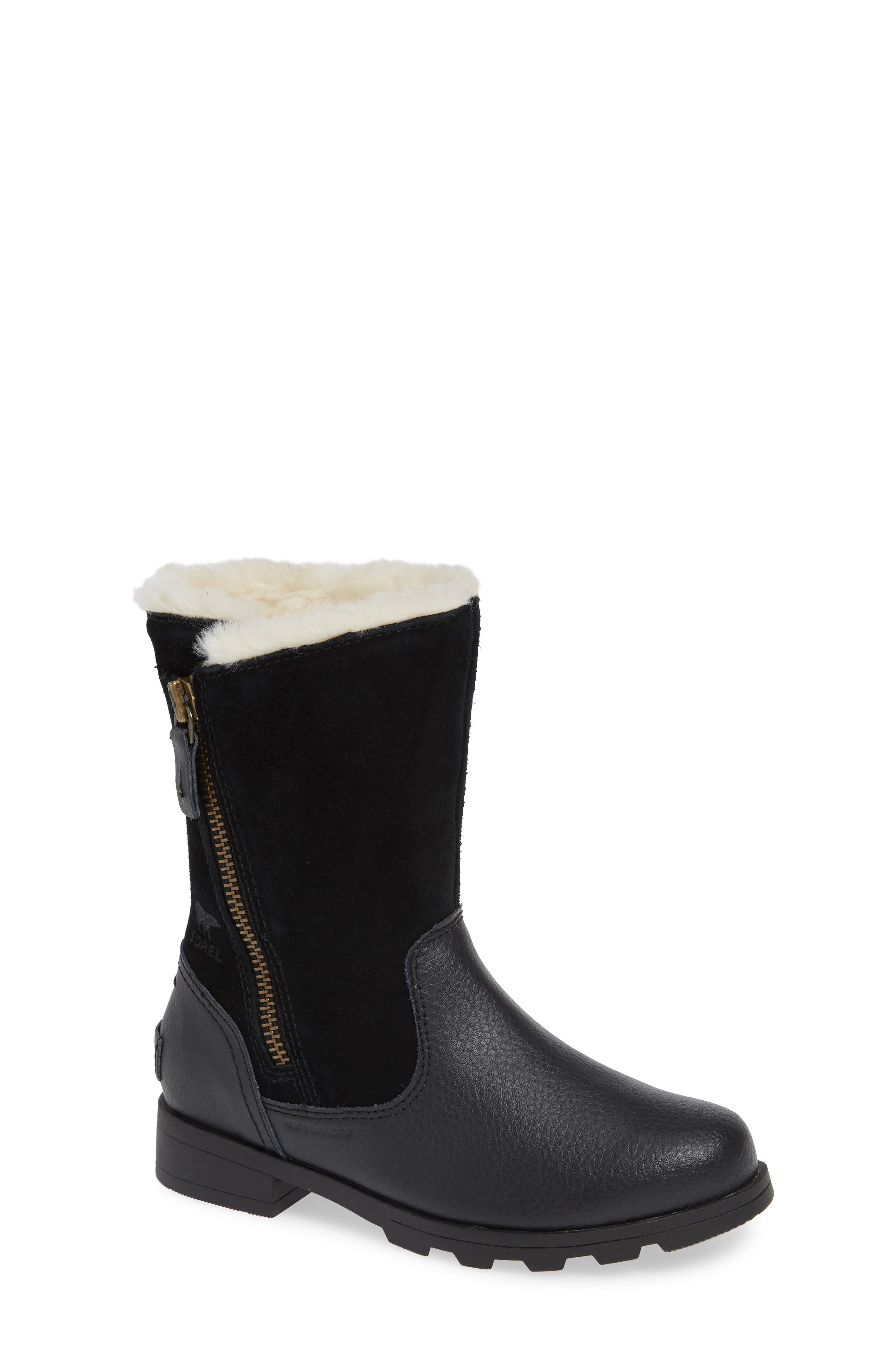 Emelie Waterproof Faux Fur Lined Boot,                             Main thumbnail 1, color,                             010