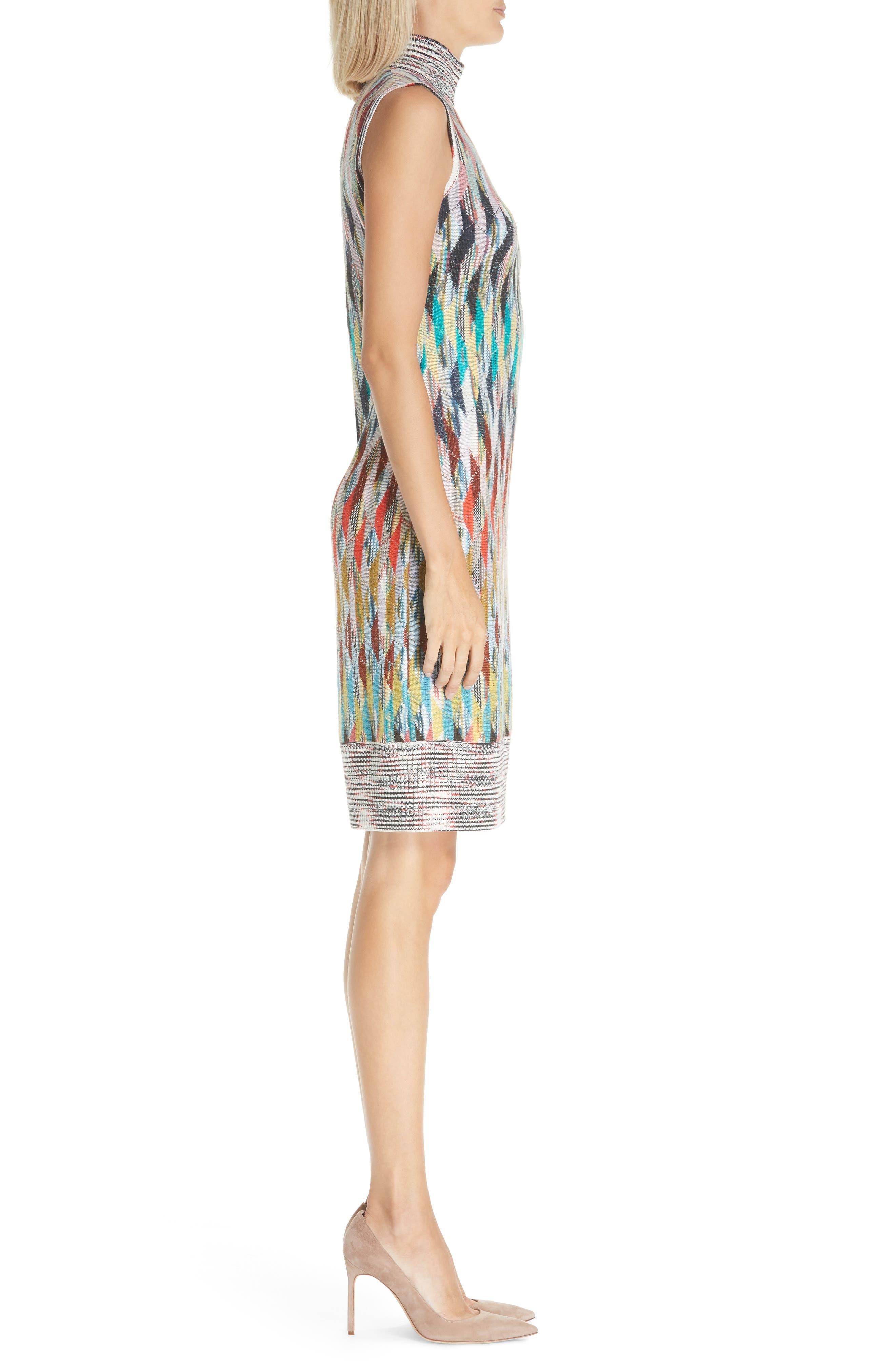 Knit Turtleneck Dress,                             Alternate thumbnail 3, color,                             MULTI
