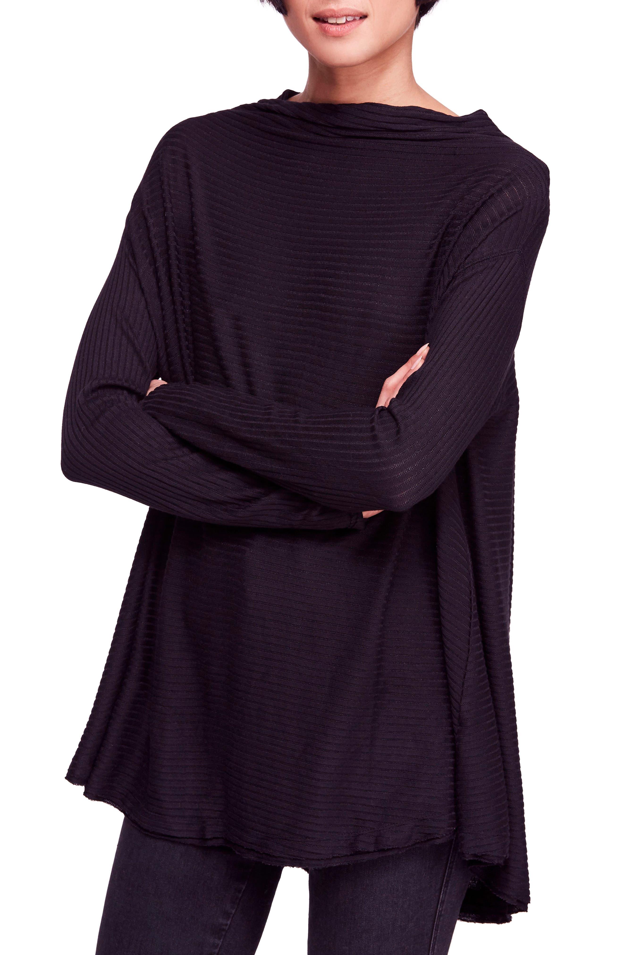 Lover Rib Split Back Pullover,                         Main,                         color, 001