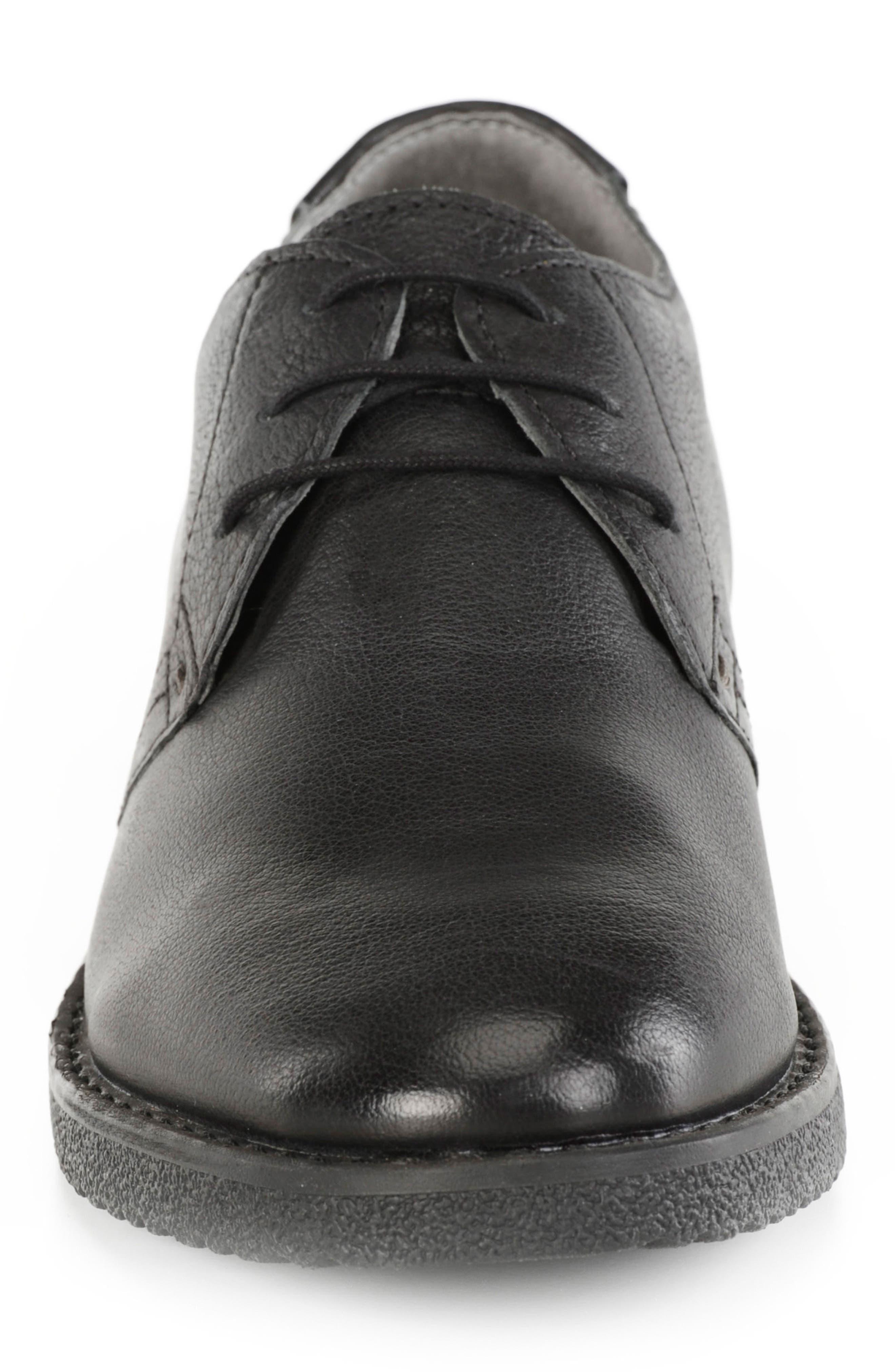 GEOX,                             Brandled Plain Toe Derby,                             Alternate thumbnail 4, color,                             001