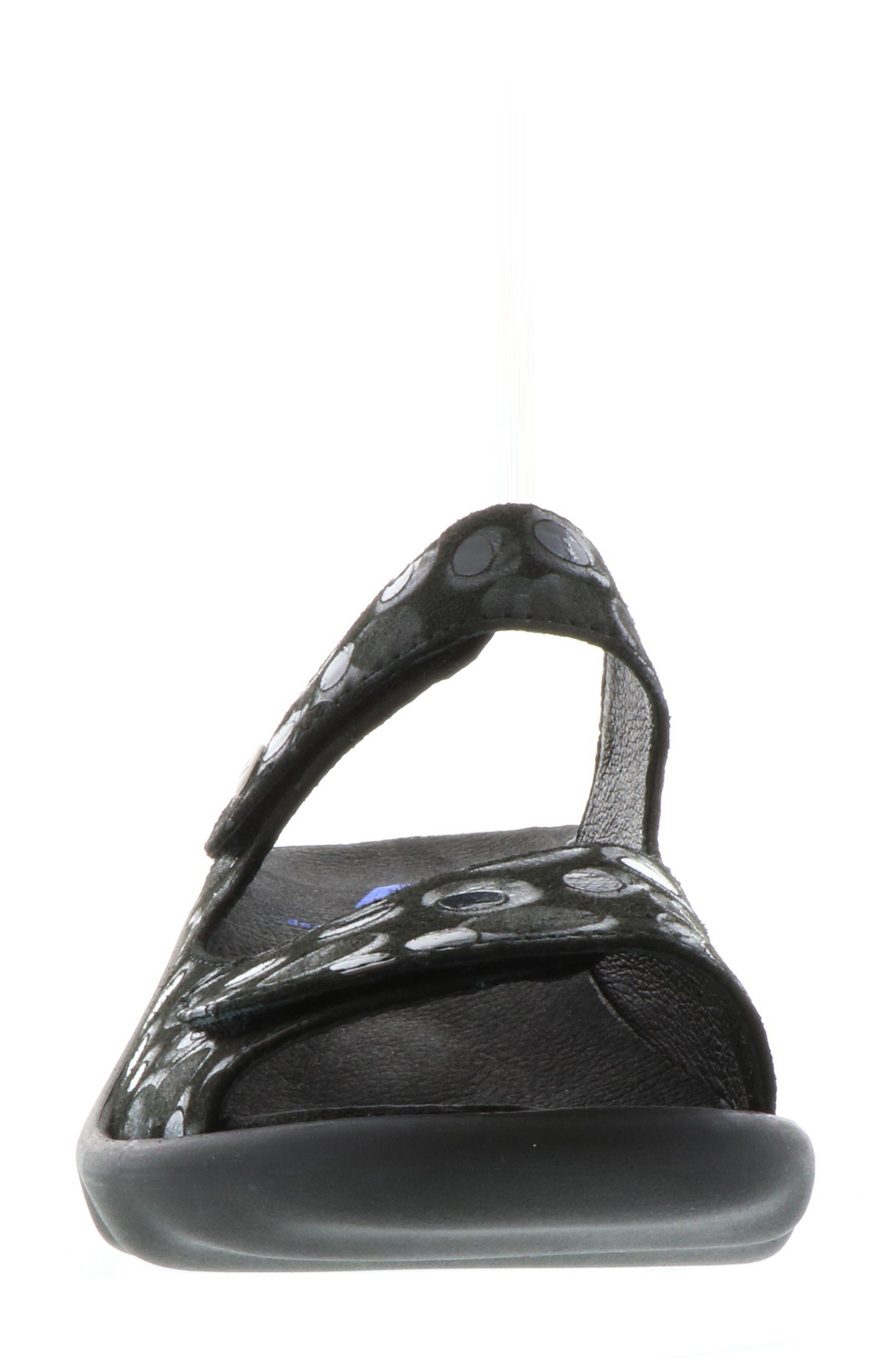 Bolena Slide Sandal,                             Alternate thumbnail 4, color,                             BLACK CIRCLE PRINT