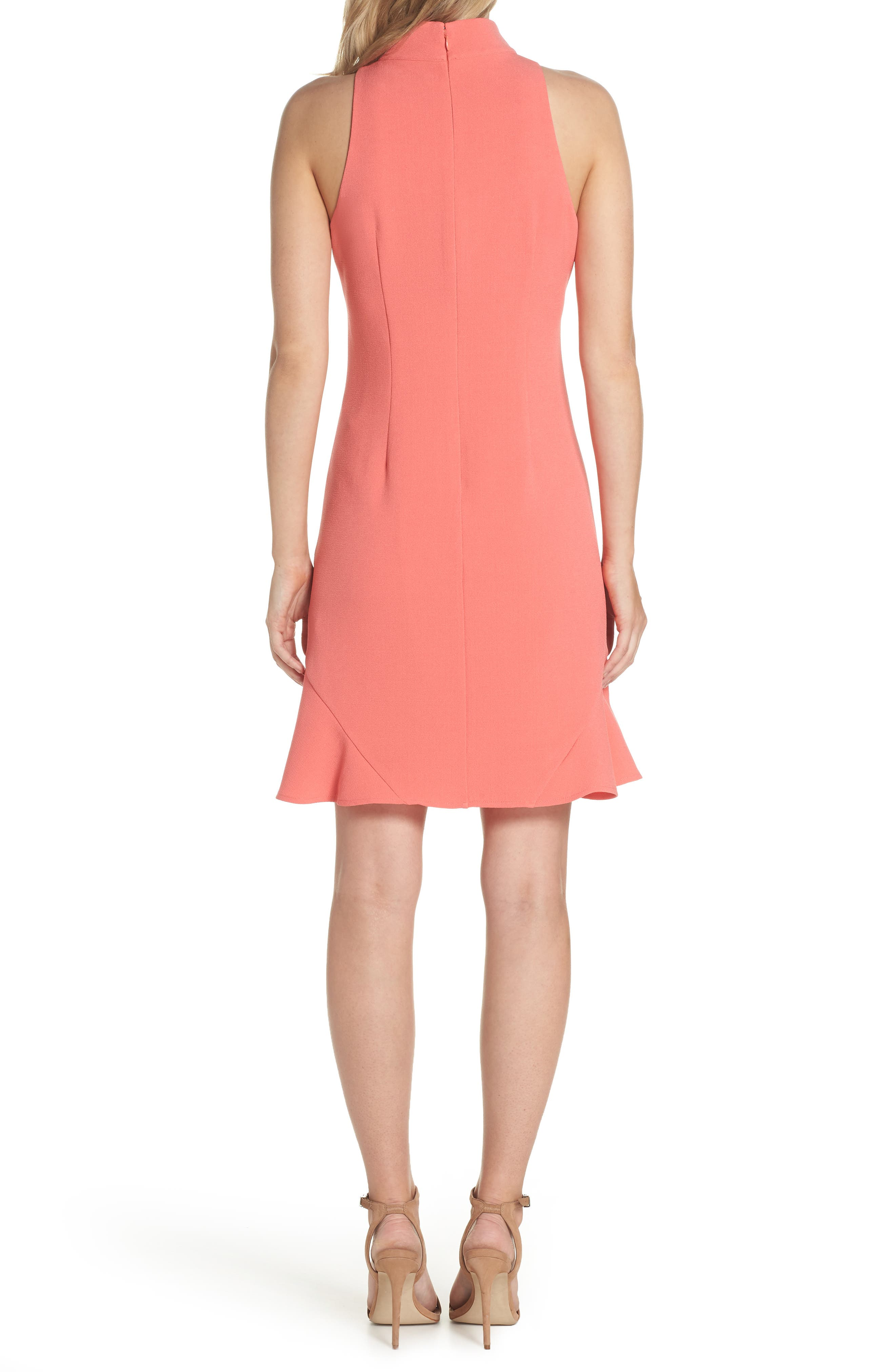 Mock Neck Crepe Shift Dress,                             Alternate thumbnail 2, color,                             629