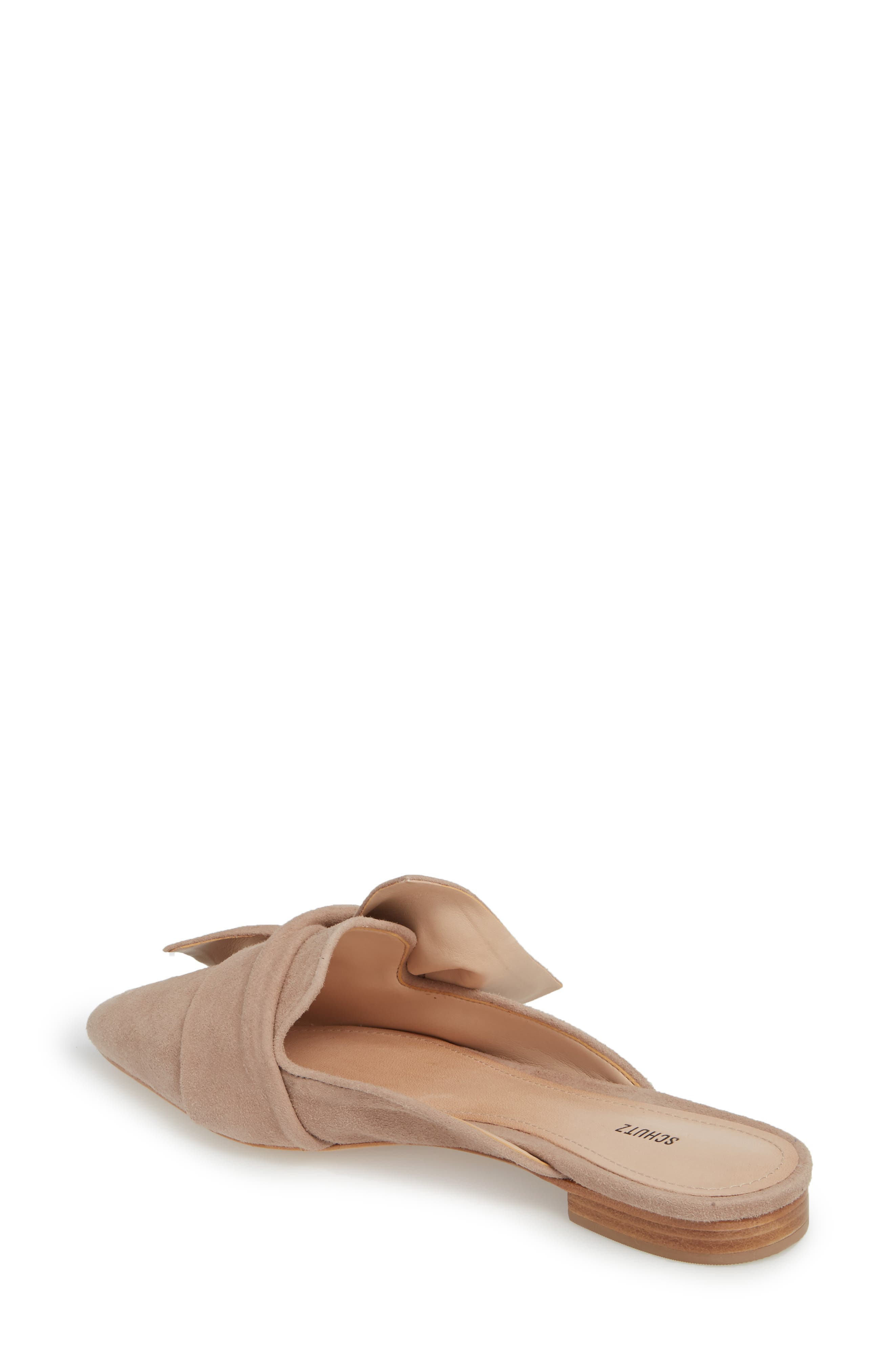 D'Ana Knotted Loafer Mule,                             Alternate thumbnail 2, color,                             NEUTRAL SUEDE