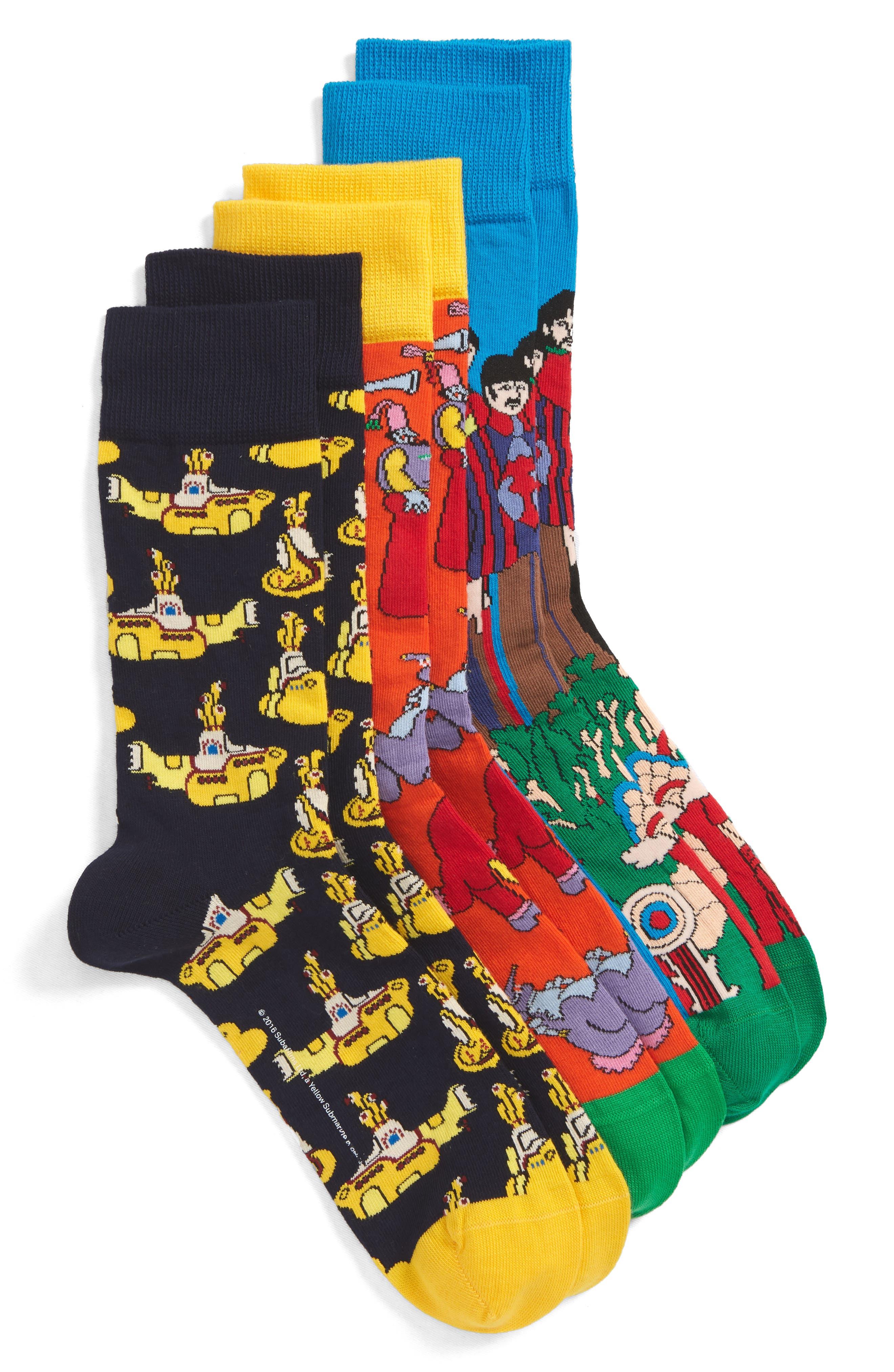 The Beatles 3-Pack Sock Gift Set,                             Main thumbnail 1, color,                             459