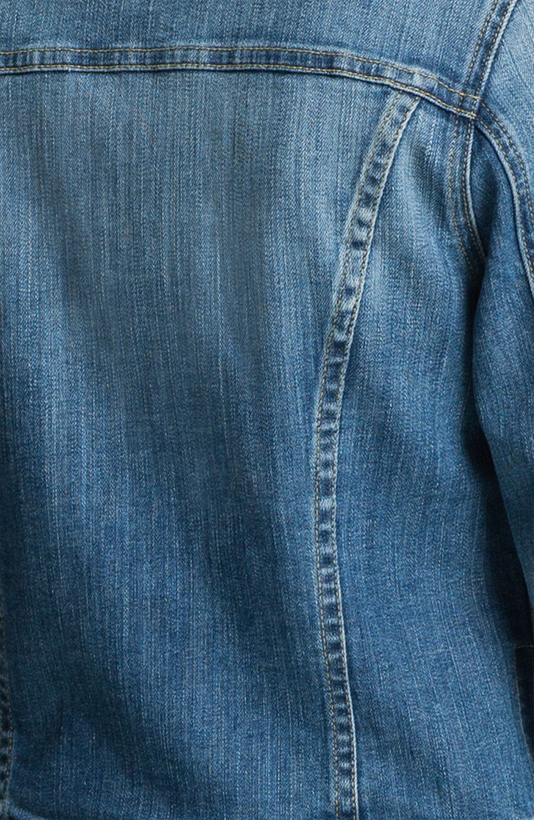 'Robyn' Denim Jacket,                             Alternate thumbnail 3, color,                             400
