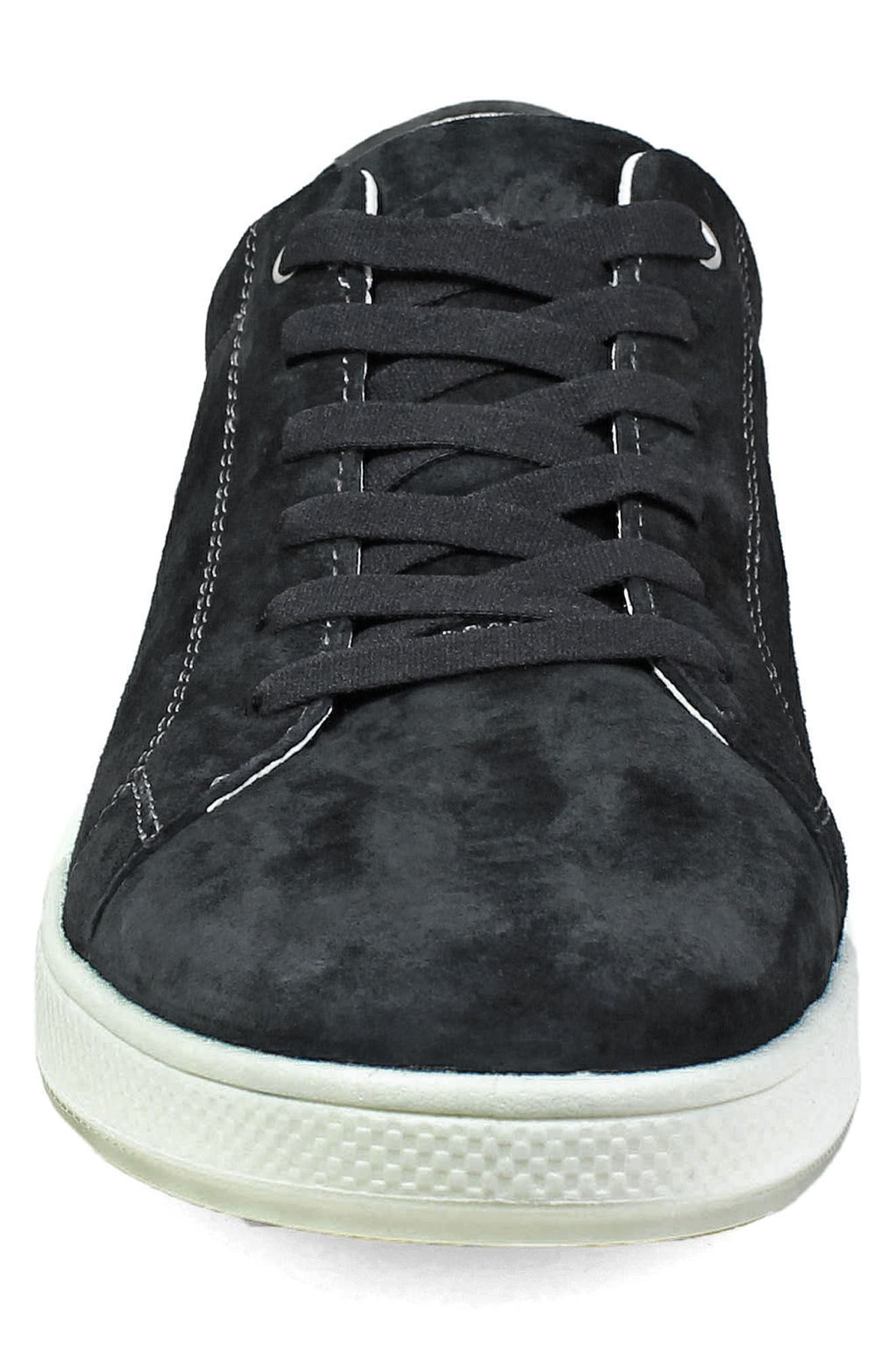 Edge Low Top Sneaker,                             Alternate thumbnail 4, color,                             BLACK NUBUCK