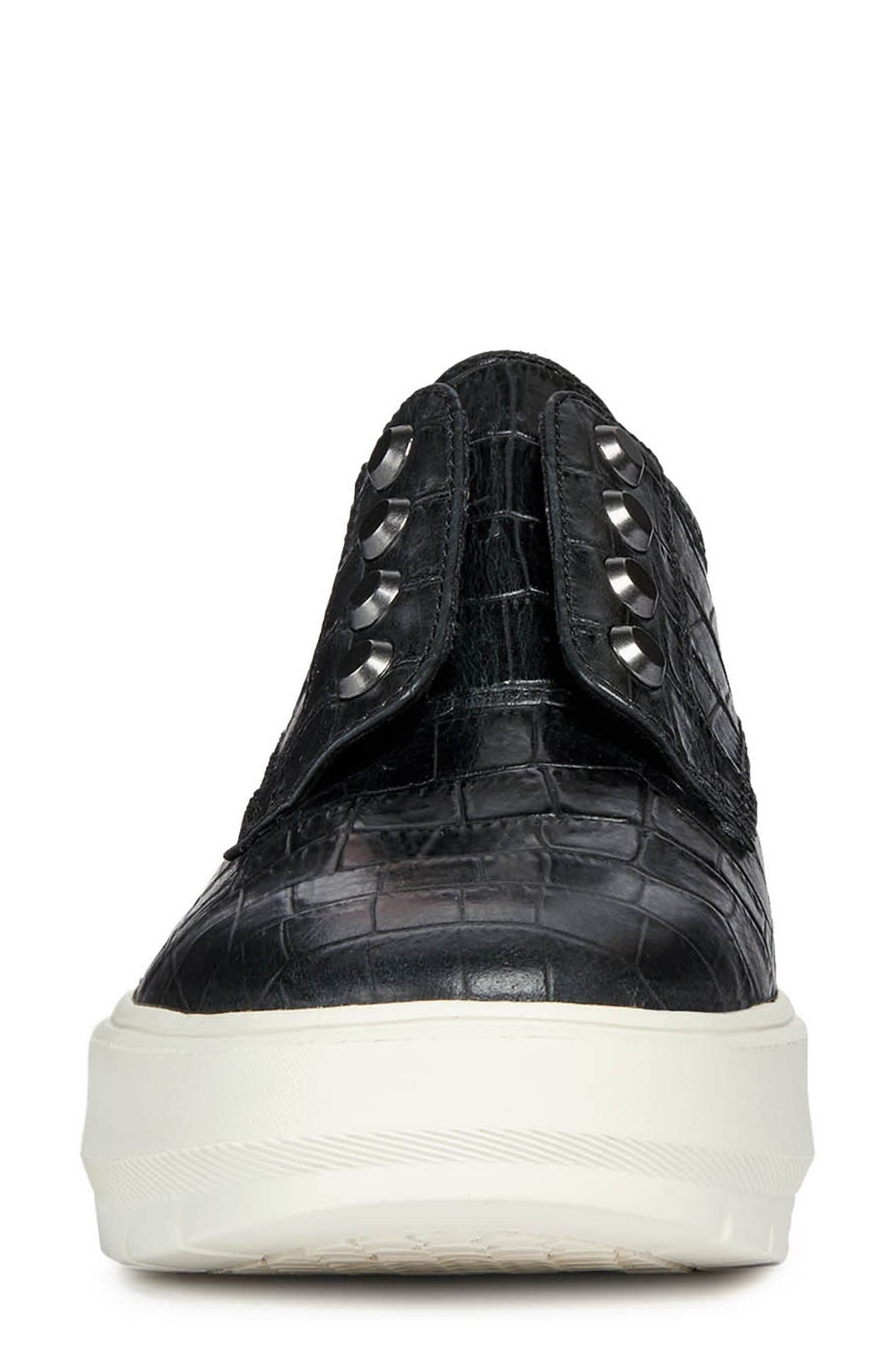 Kaula Sneaker,                             Alternate thumbnail 4, color,                             BLACK LEATHER