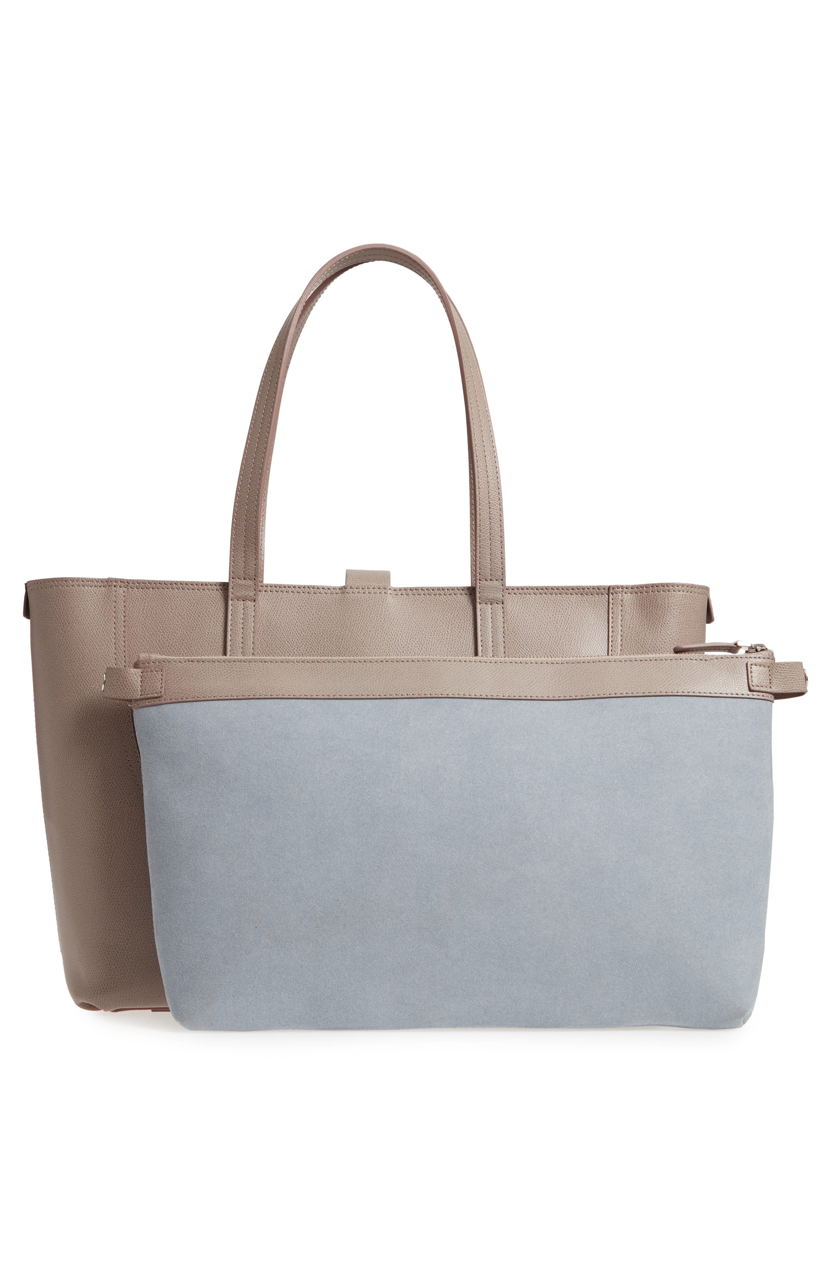 Voya Pebbled Leather Tote,                             Alternate thumbnail 3, color,                             SAND