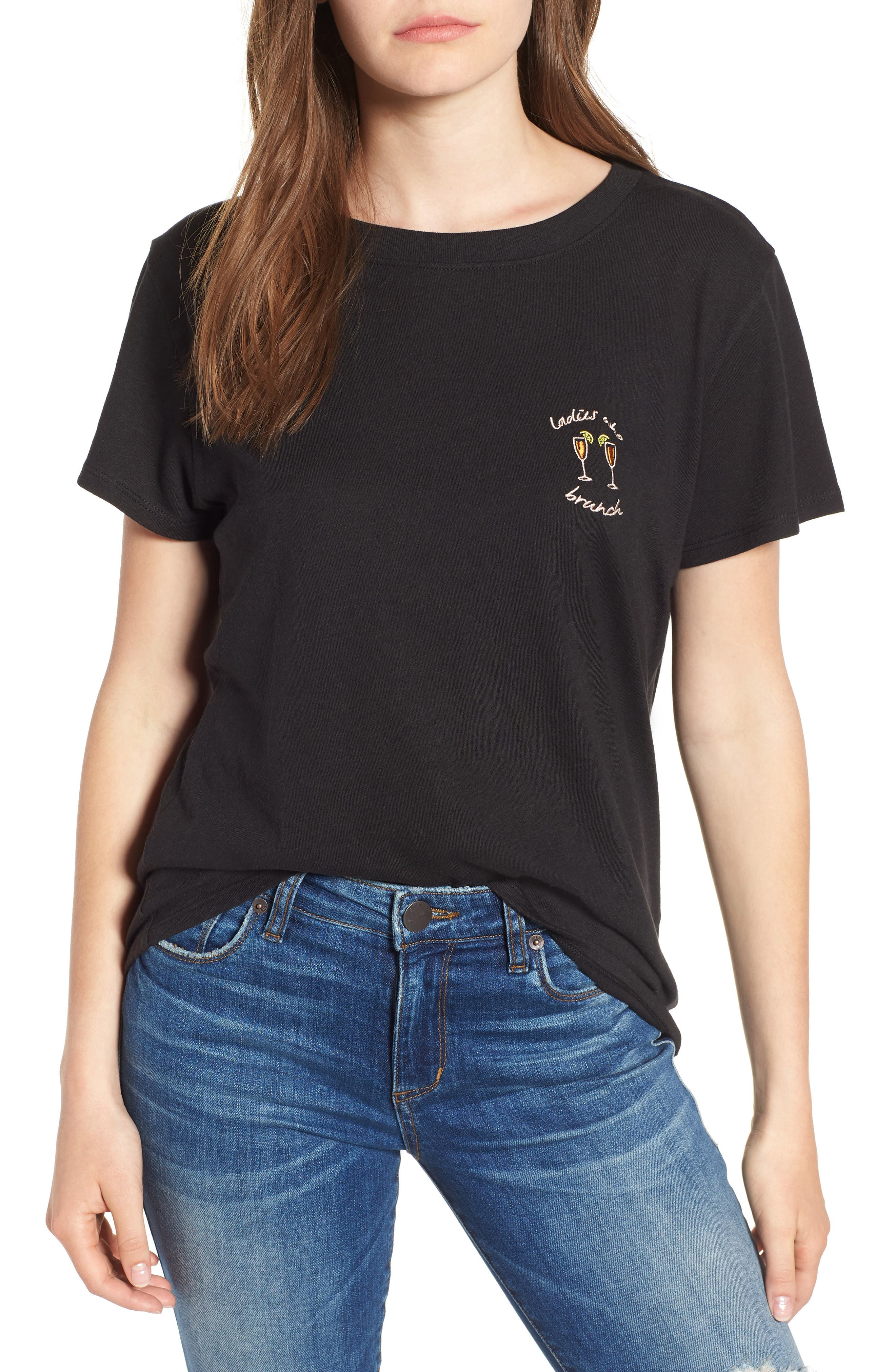 Ladies Who Brunch Slouched Tee,                             Main thumbnail 1, color,                             001