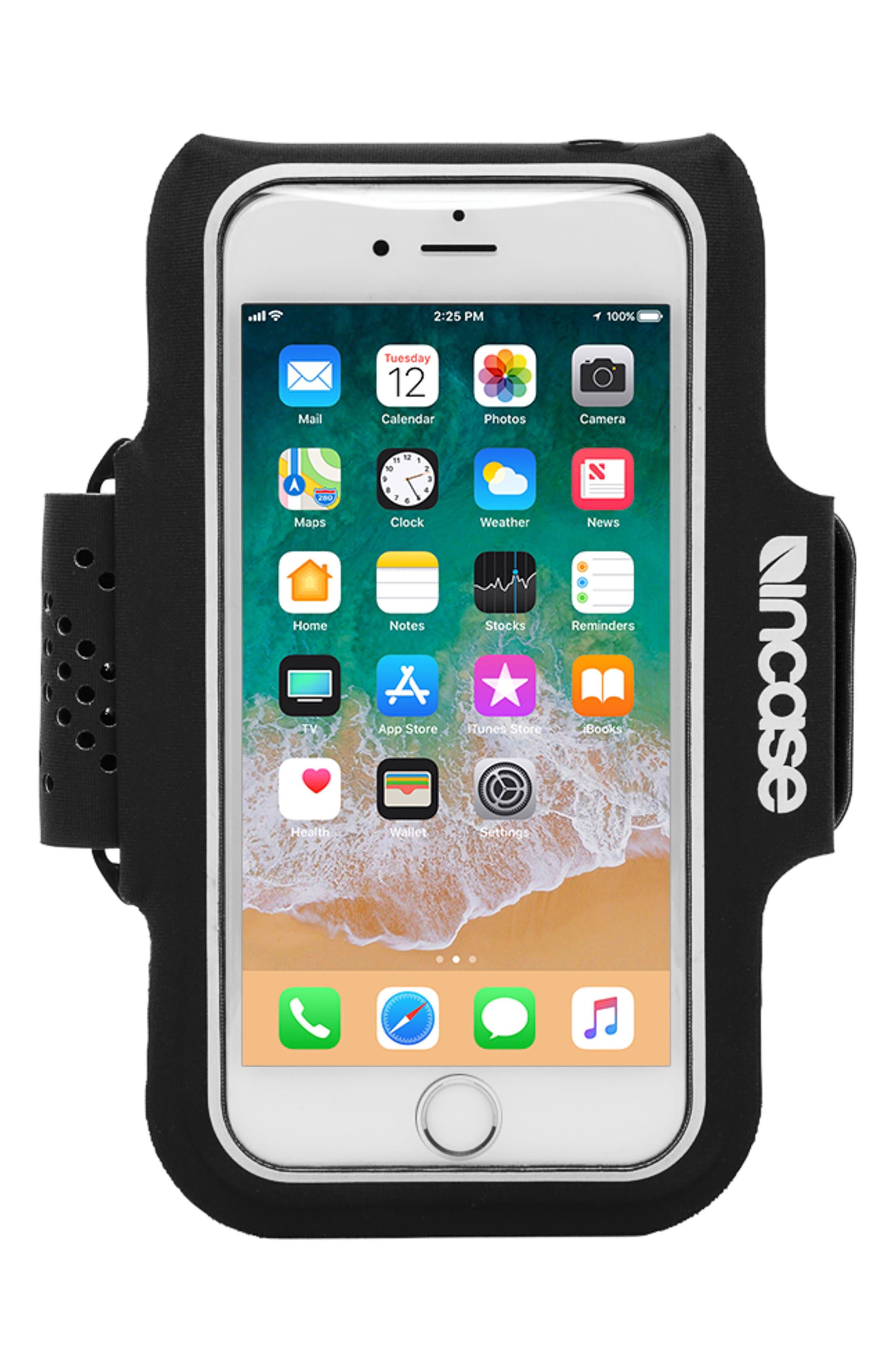 iPhone 7/8 Plus Active Armband,                             Main thumbnail 1, color,                             BLACK
