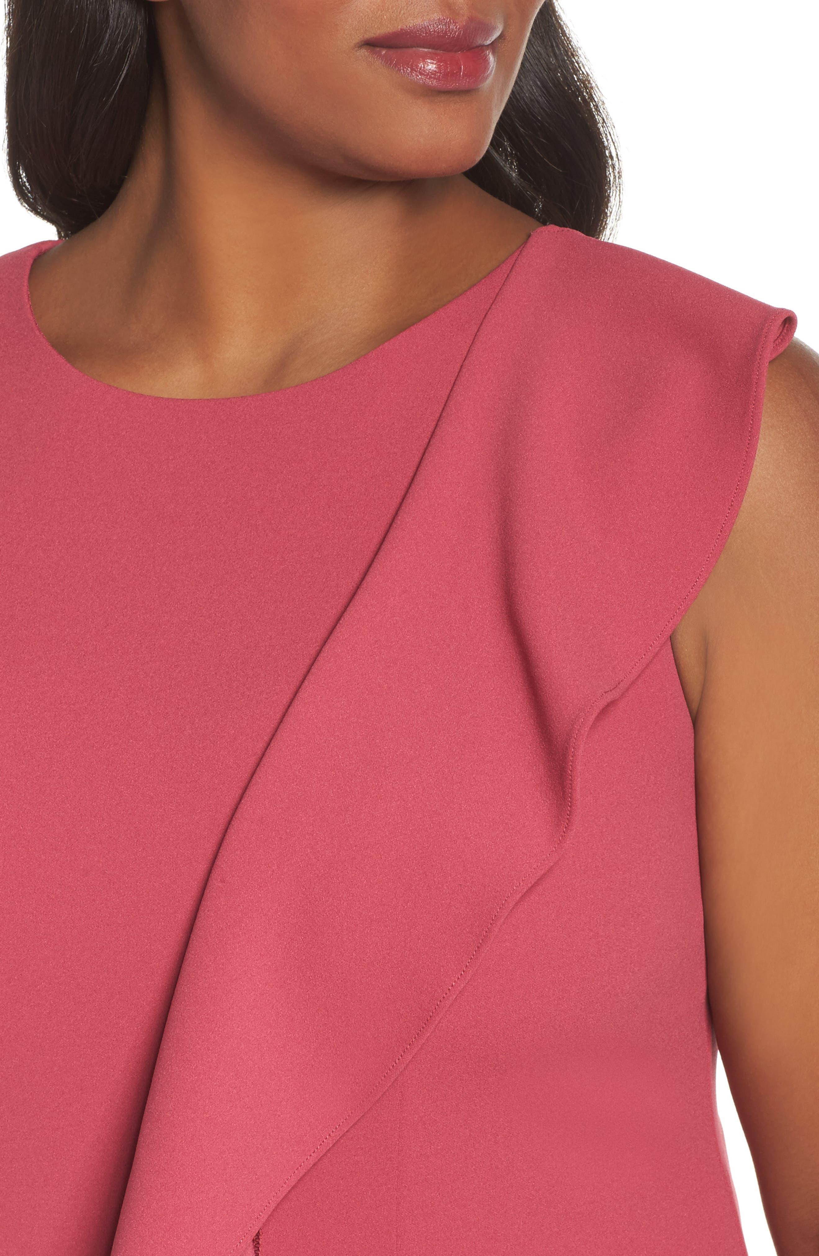 Knit Crepe Drop Waist Dress,                             Alternate thumbnail 4, color,                             655