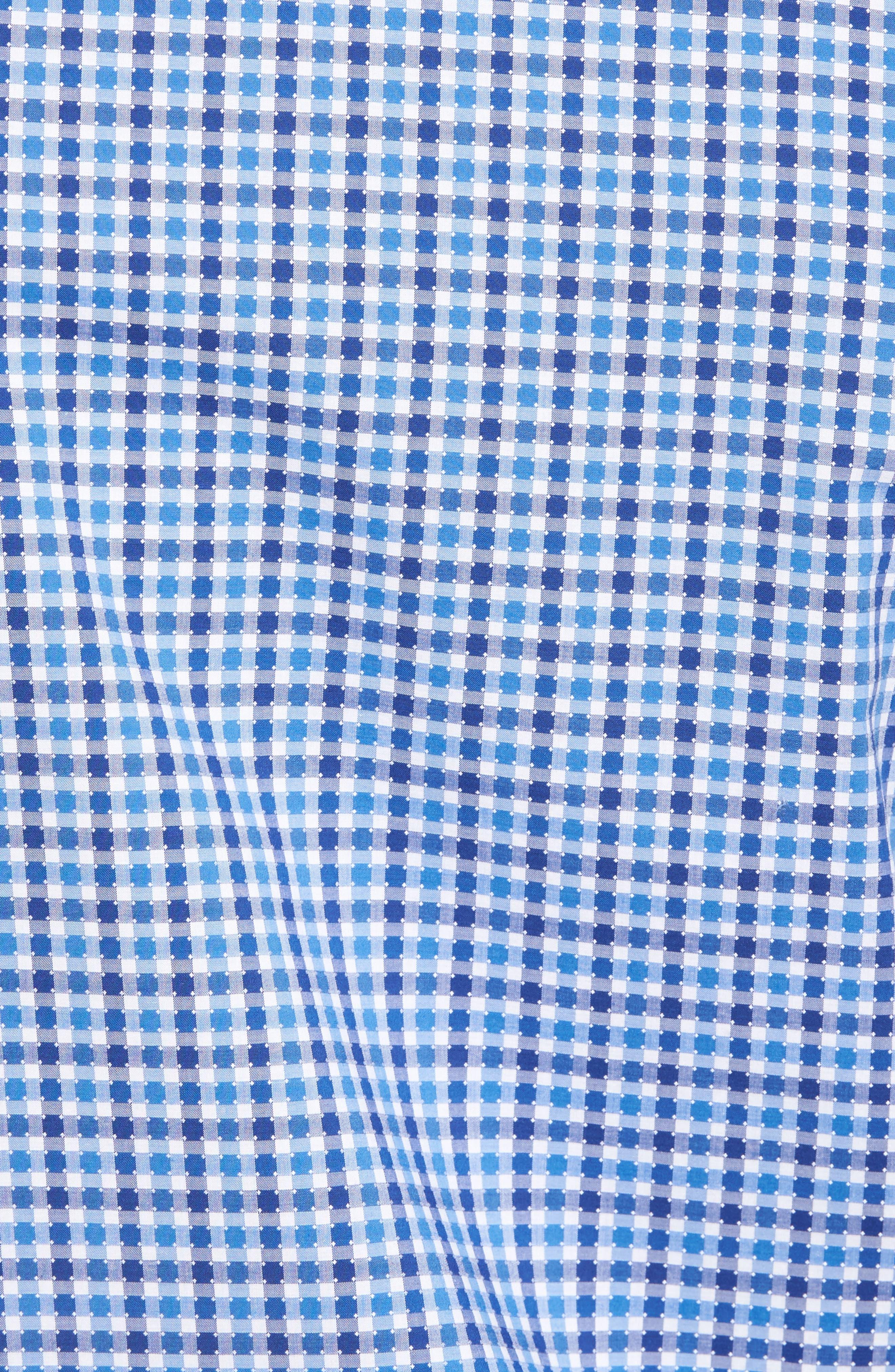 Classic Fit Dot Check Sport Shirt,                             Alternate thumbnail 5, color,                             420