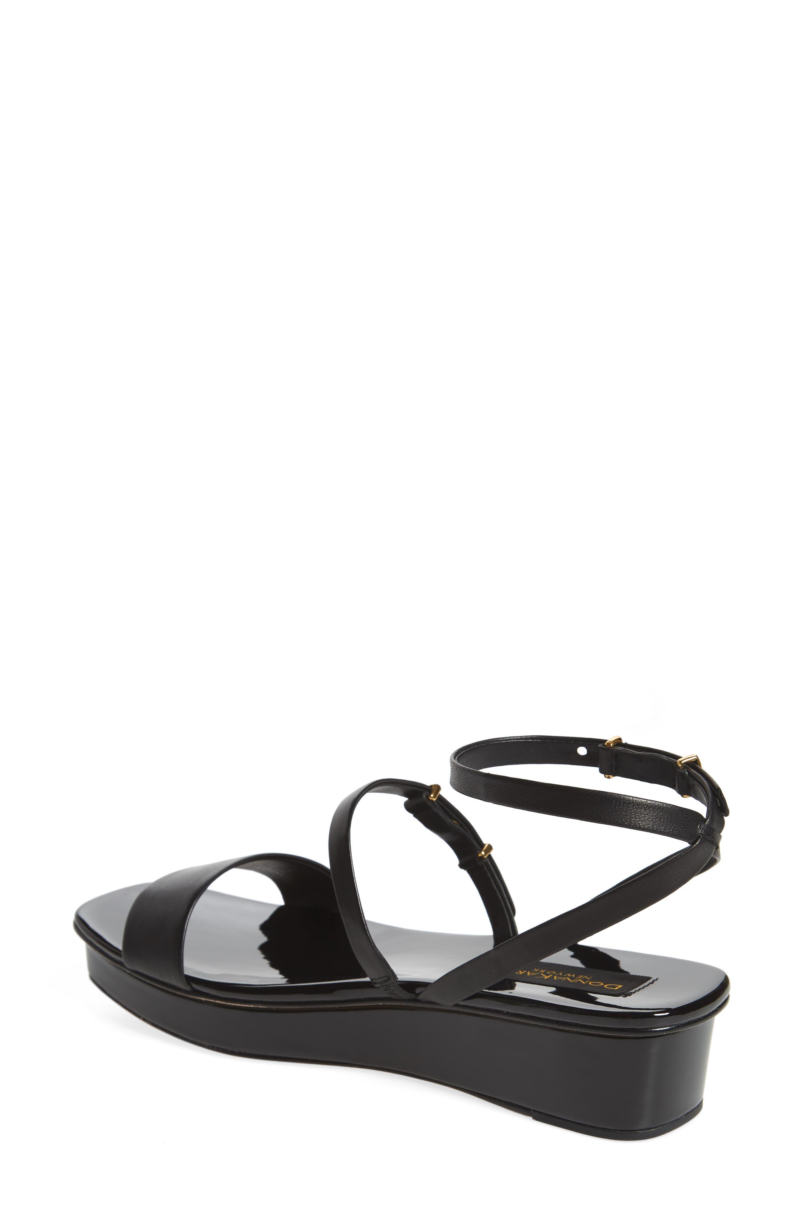 Ankle Strap Wedge Sandal,                             Alternate thumbnail 3, color,