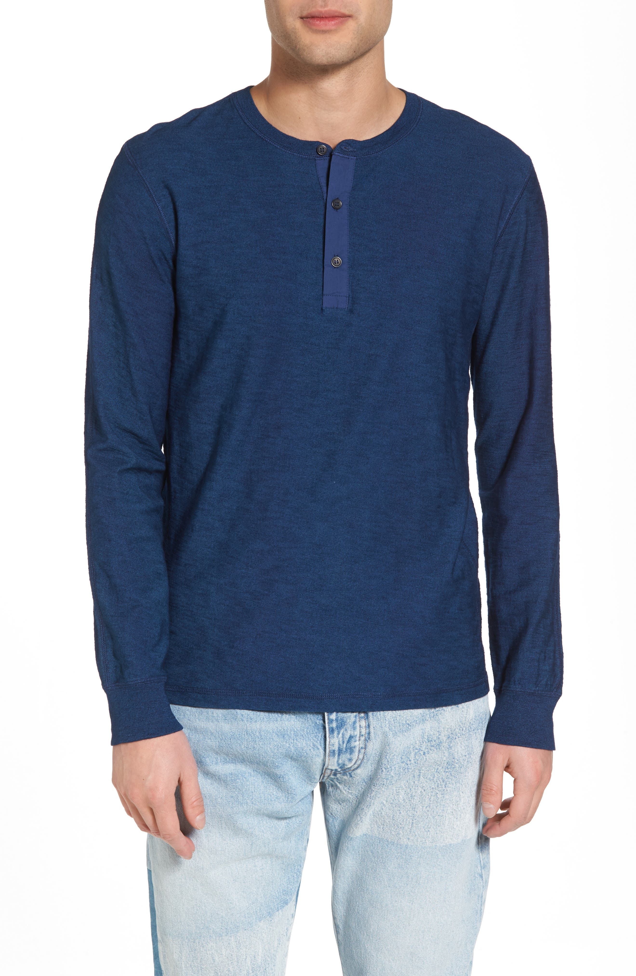 Slim Fit Long Sleeve Henley,                         Main,                         color, 400