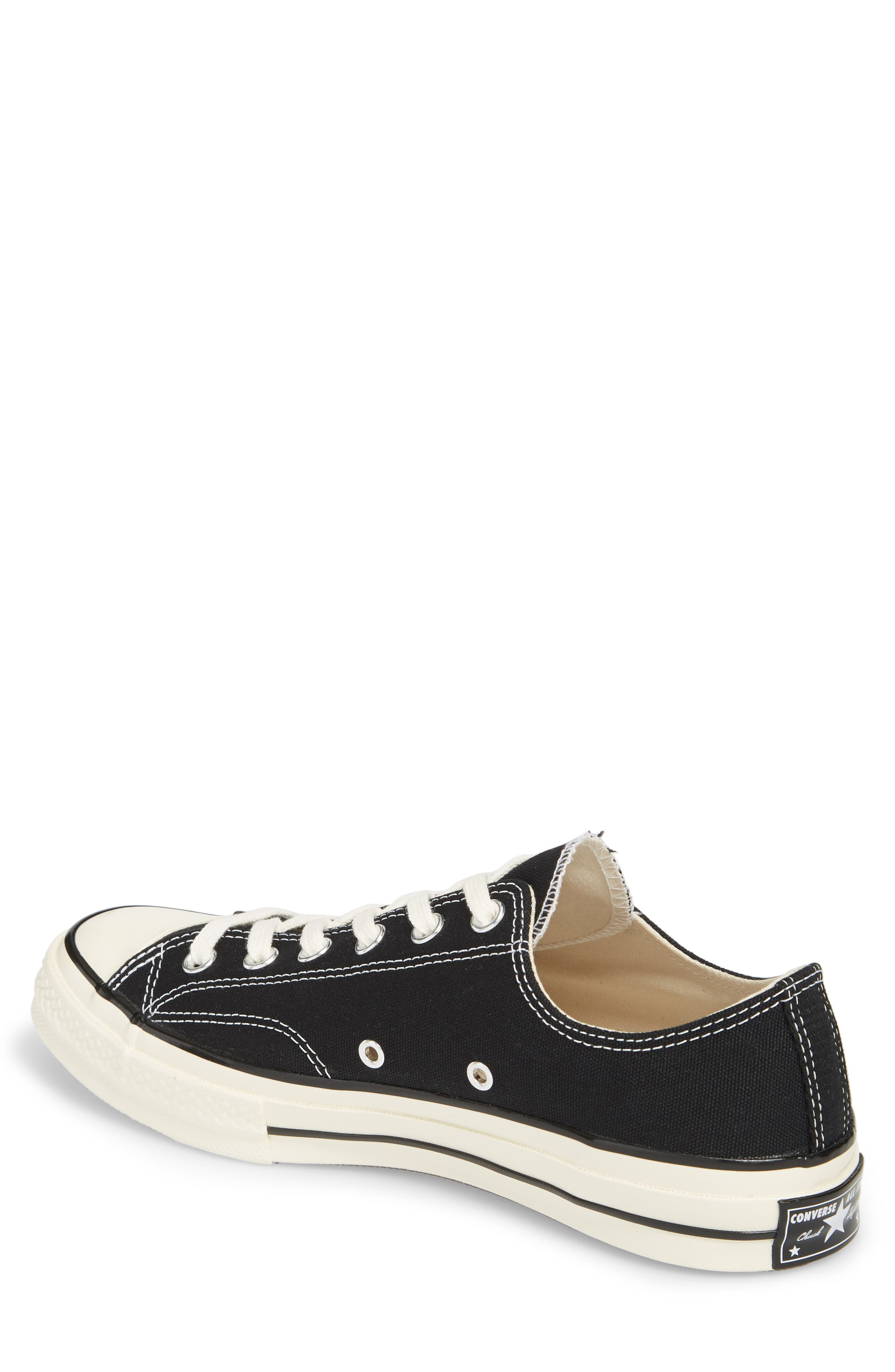 Chuck Taylor<sup>®</sup> All Star<sup>®</sup> 70 Low Top Sneaker,                             Alternate thumbnail 2, color,                             BLACK