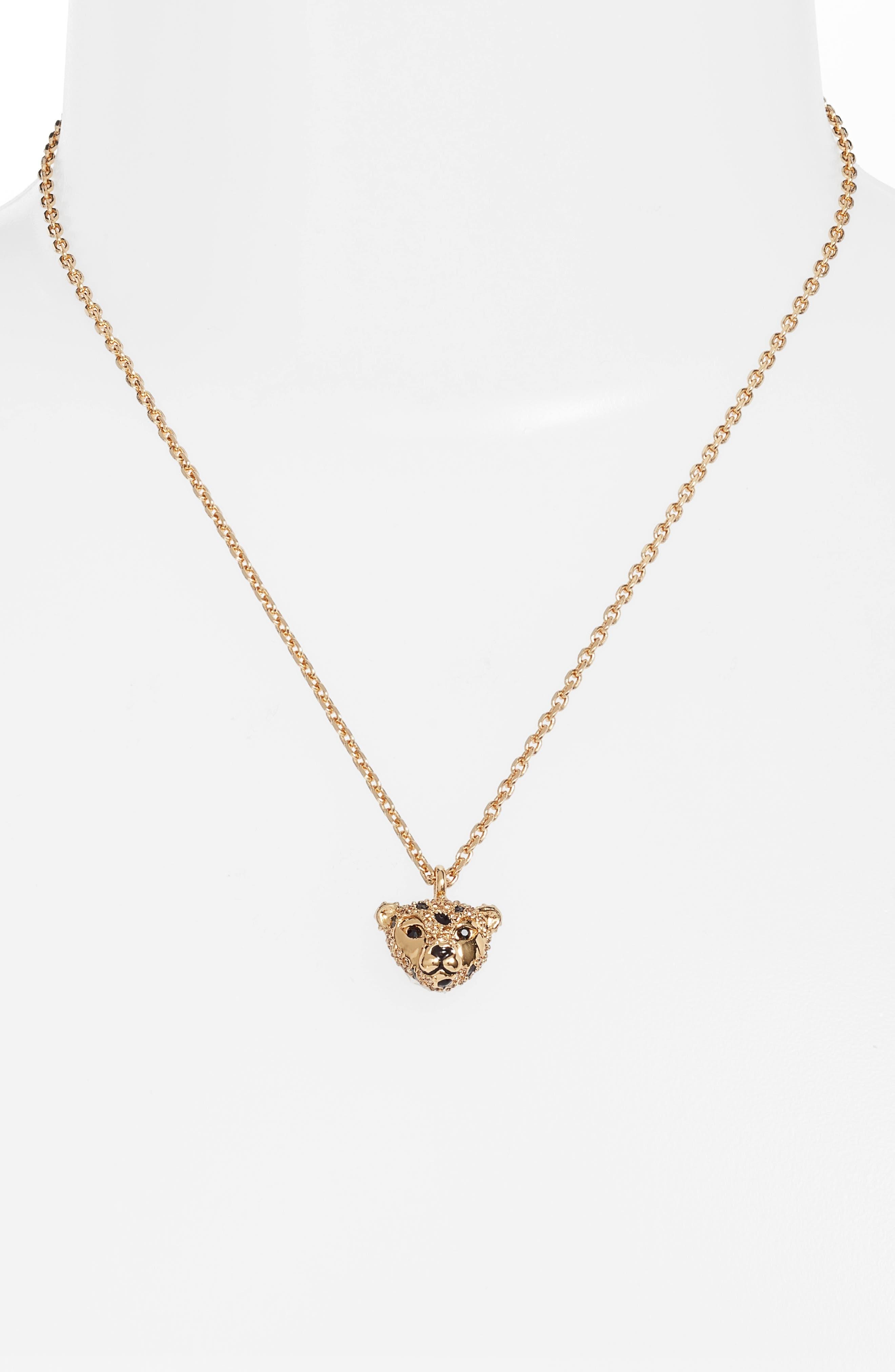 run wild cheetah pendant necklace,                         Main,                         color, 710