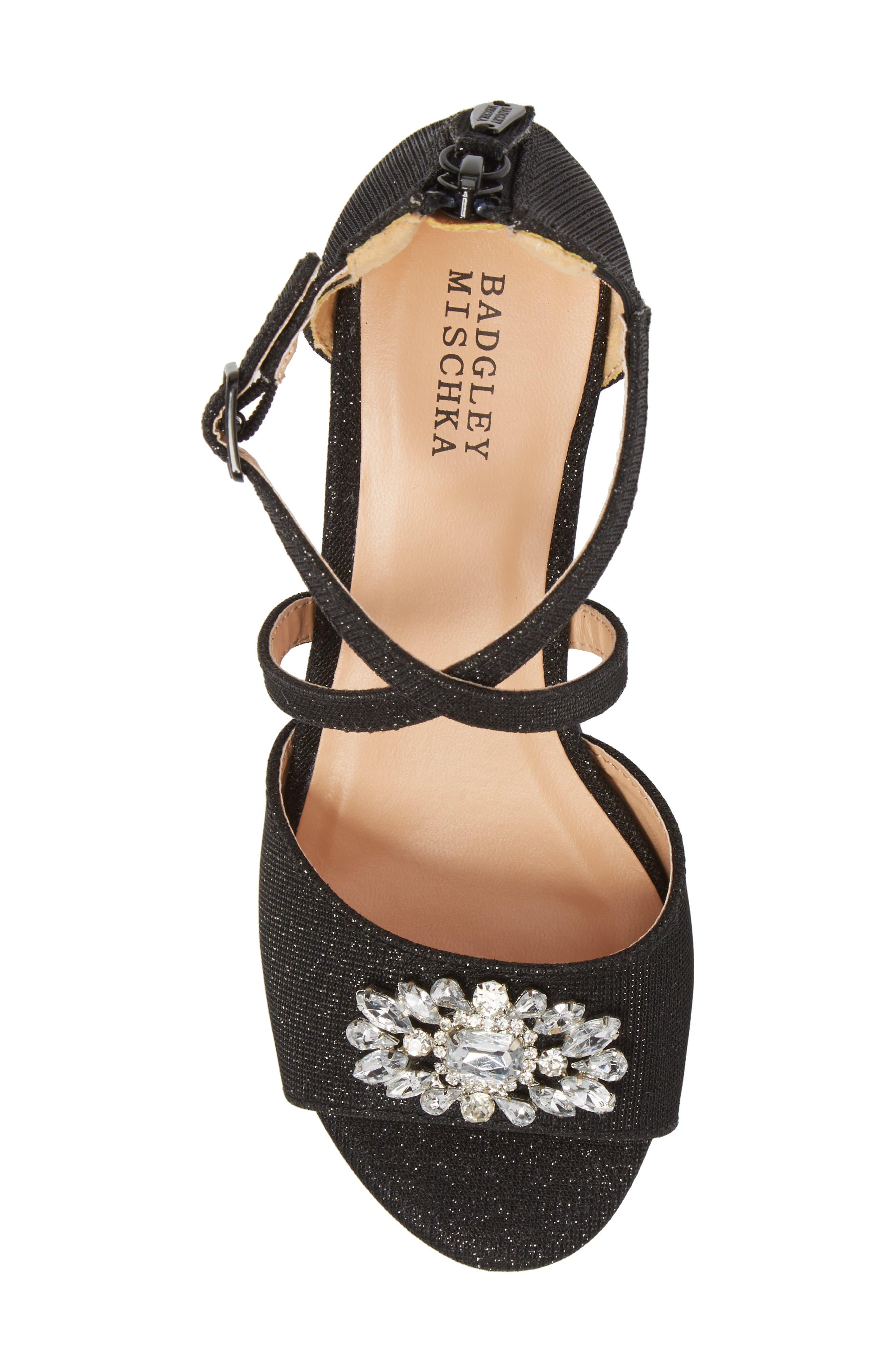 Pernia Gems Sandal,                             Alternate thumbnail 5, color,                             BLACK