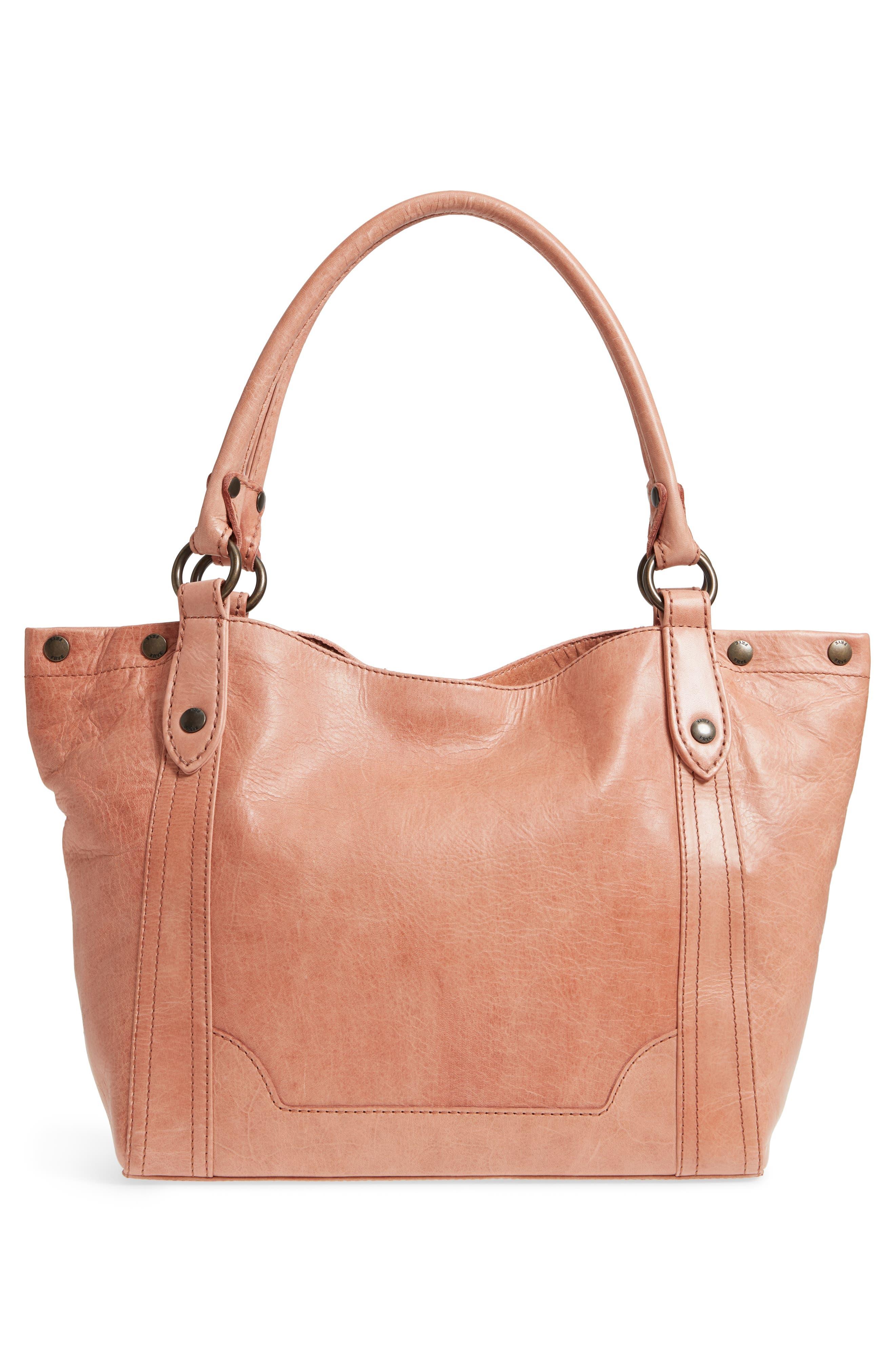 Melissa Leather Shoulder Bag,                             Alternate thumbnail 3, color,                             DUSTY ROSE