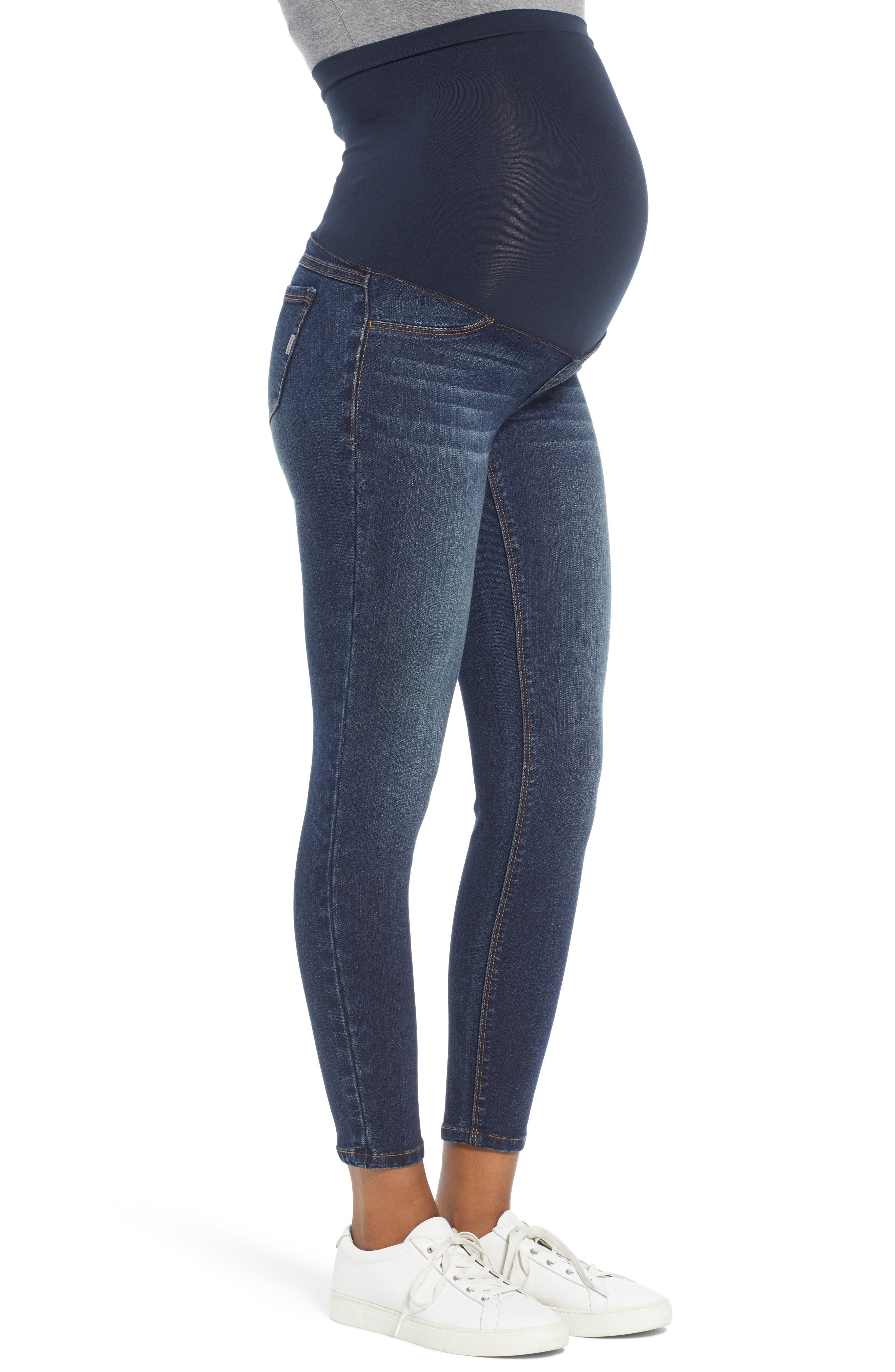 Ankle Skinny Maternity Jeans,                             Alternate thumbnail 3, color,                             406