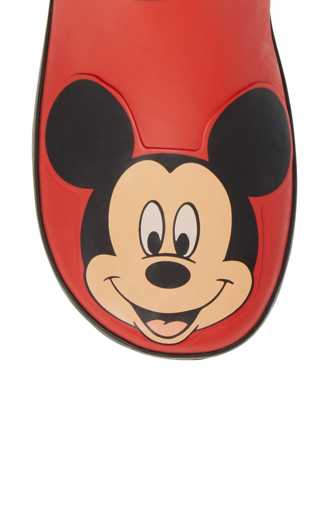 Mickey Mouse Rain Boot,                             Alternate thumbnail 5, color,                             RED