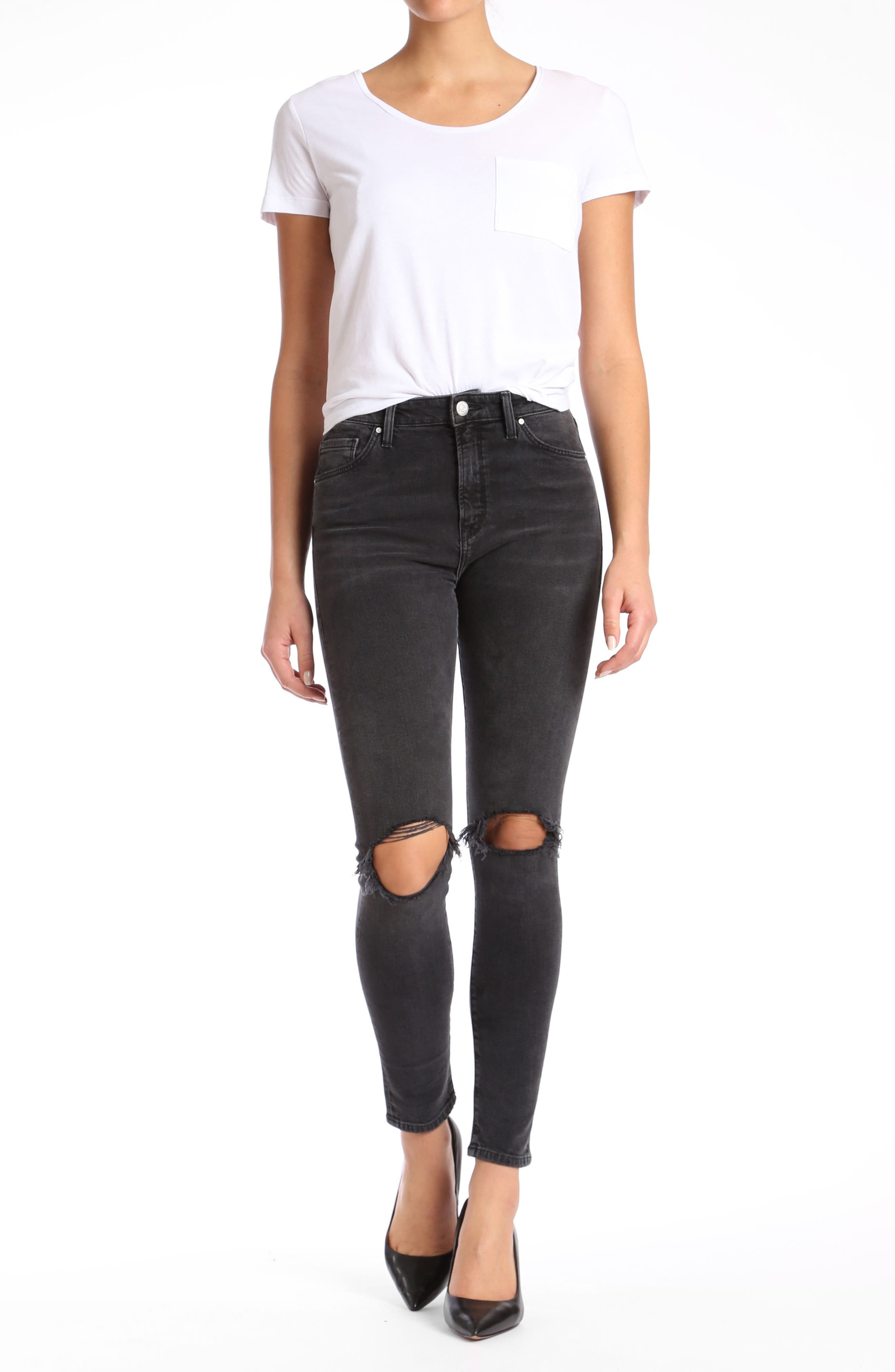 Lucy Ripped Super Skinny Jeans,                             Alternate thumbnail 4, color,