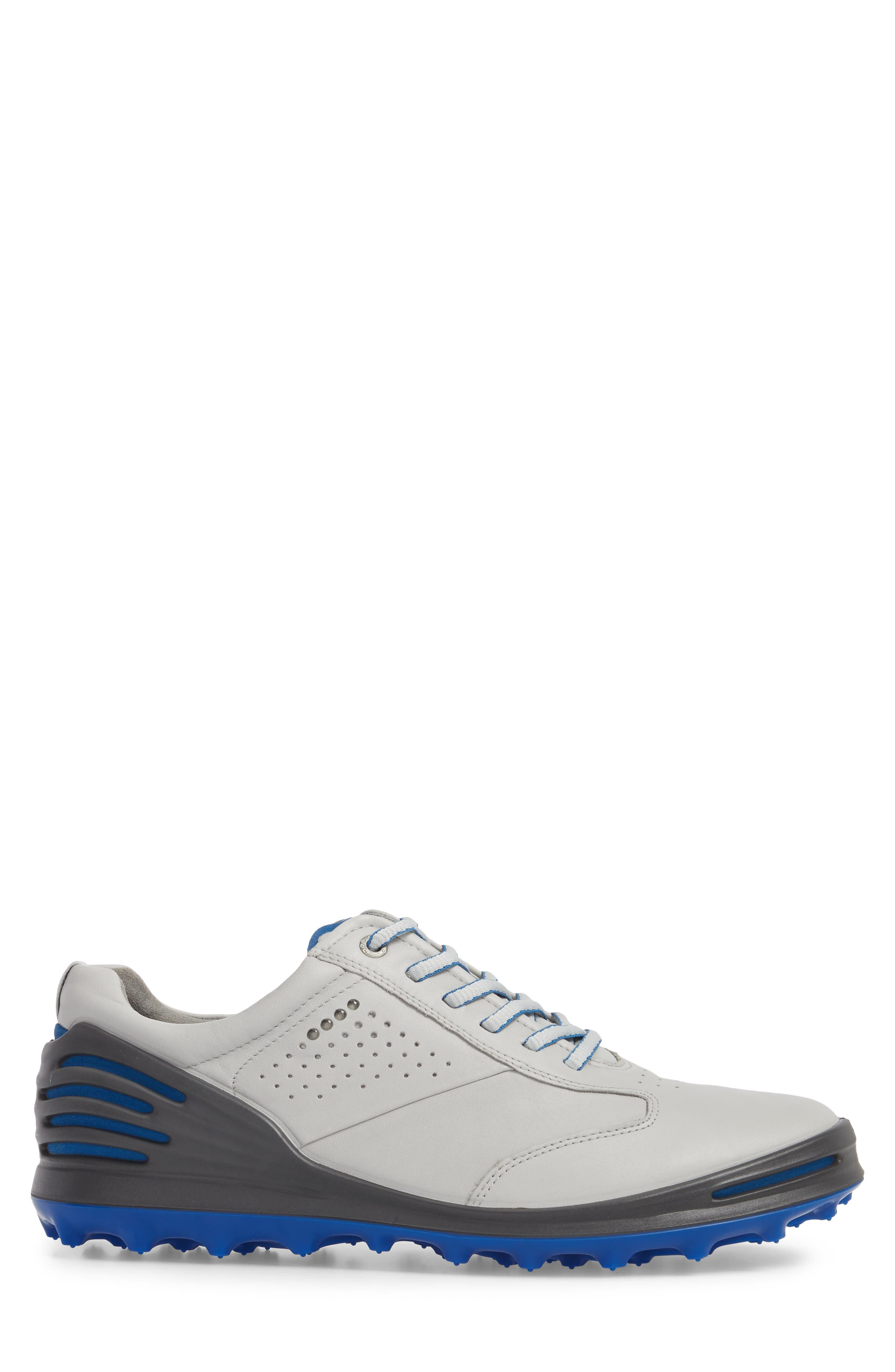 Cage Pro Golf Shoe,                             Alternate thumbnail 3, color,                             CONCRETE/ BERMUDA BLUE LEATHER