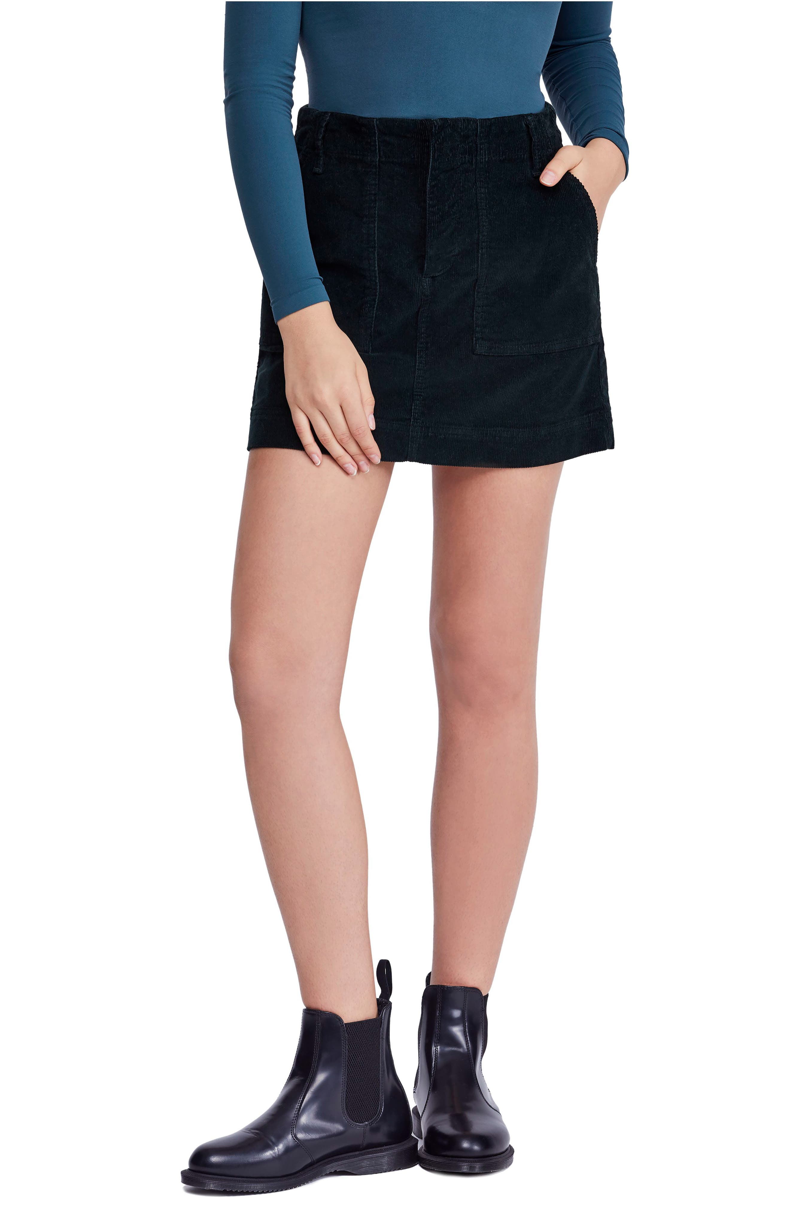 Bdg Urban Outfitters Corduroy Utility Skirt, Green