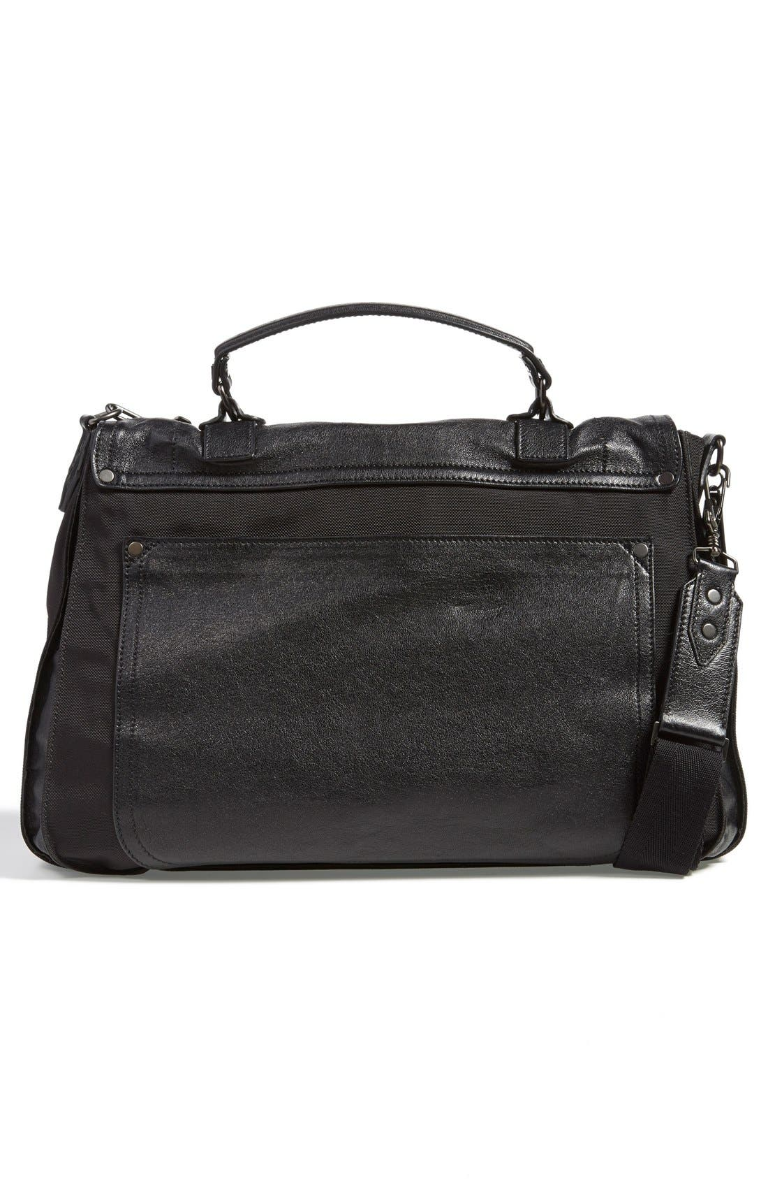 PROENZA SCHOULER,                             'Extra Large PS1' Nylon & Leather Messenger Bag,                             Alternate thumbnail 3, color,                             001