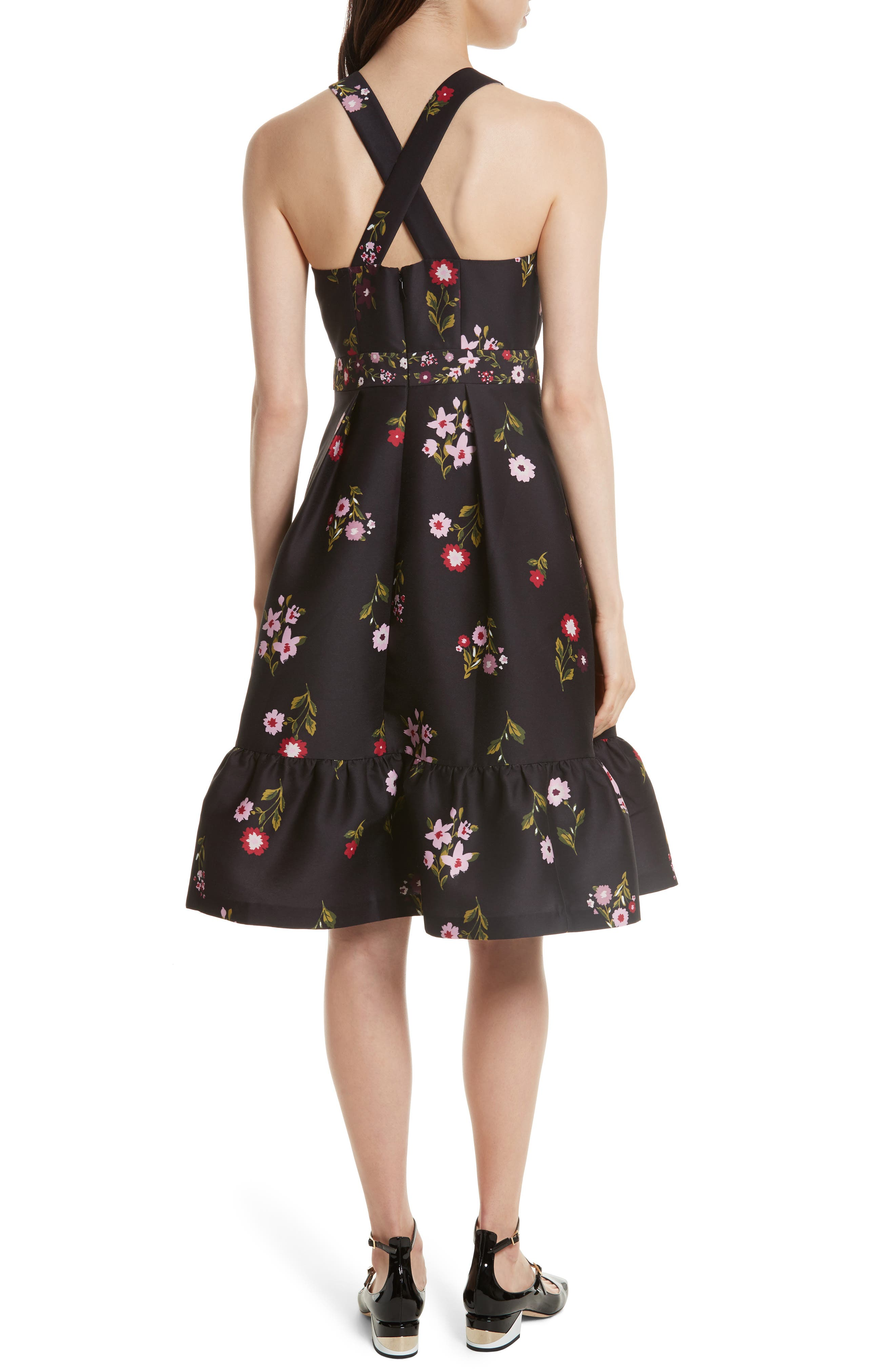 in bloom fit & flare dress,                             Alternate thumbnail 2, color,                             006