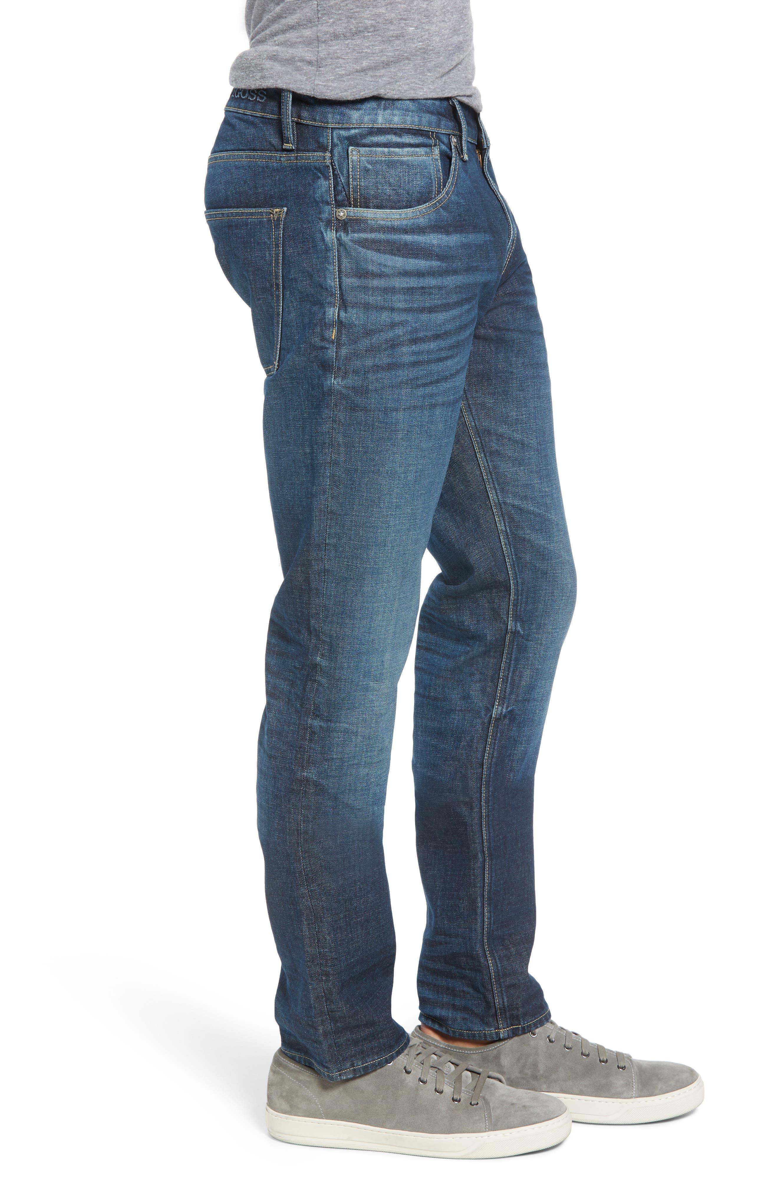 Mick Slim Fit Jeans,                             Alternate thumbnail 3, color,                             DARK 3D WASH