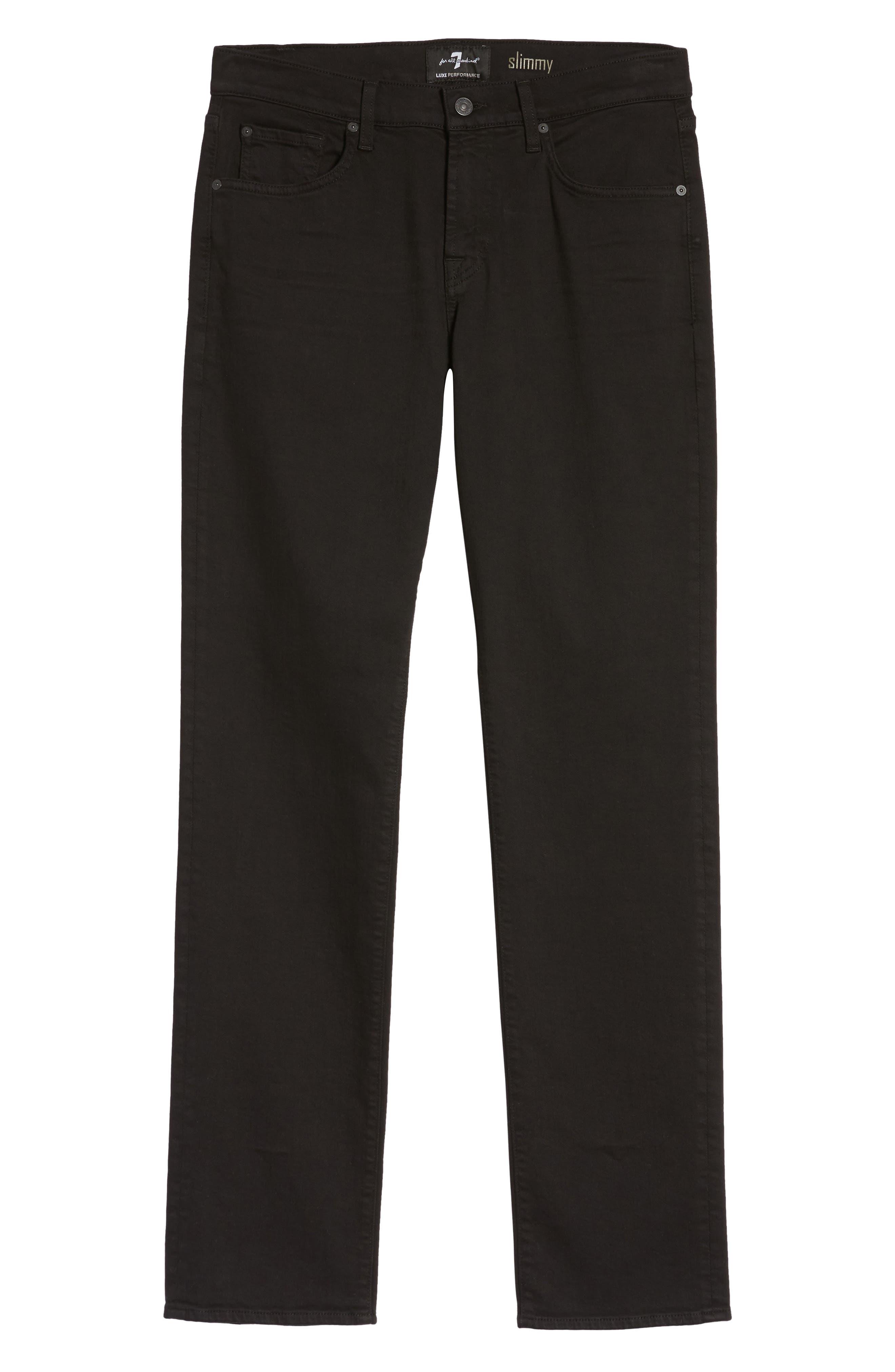 Luxe Performance - Slimmy Slim Fit Jeans,                             Alternate thumbnail 6, color,                             ANNEX BLACK