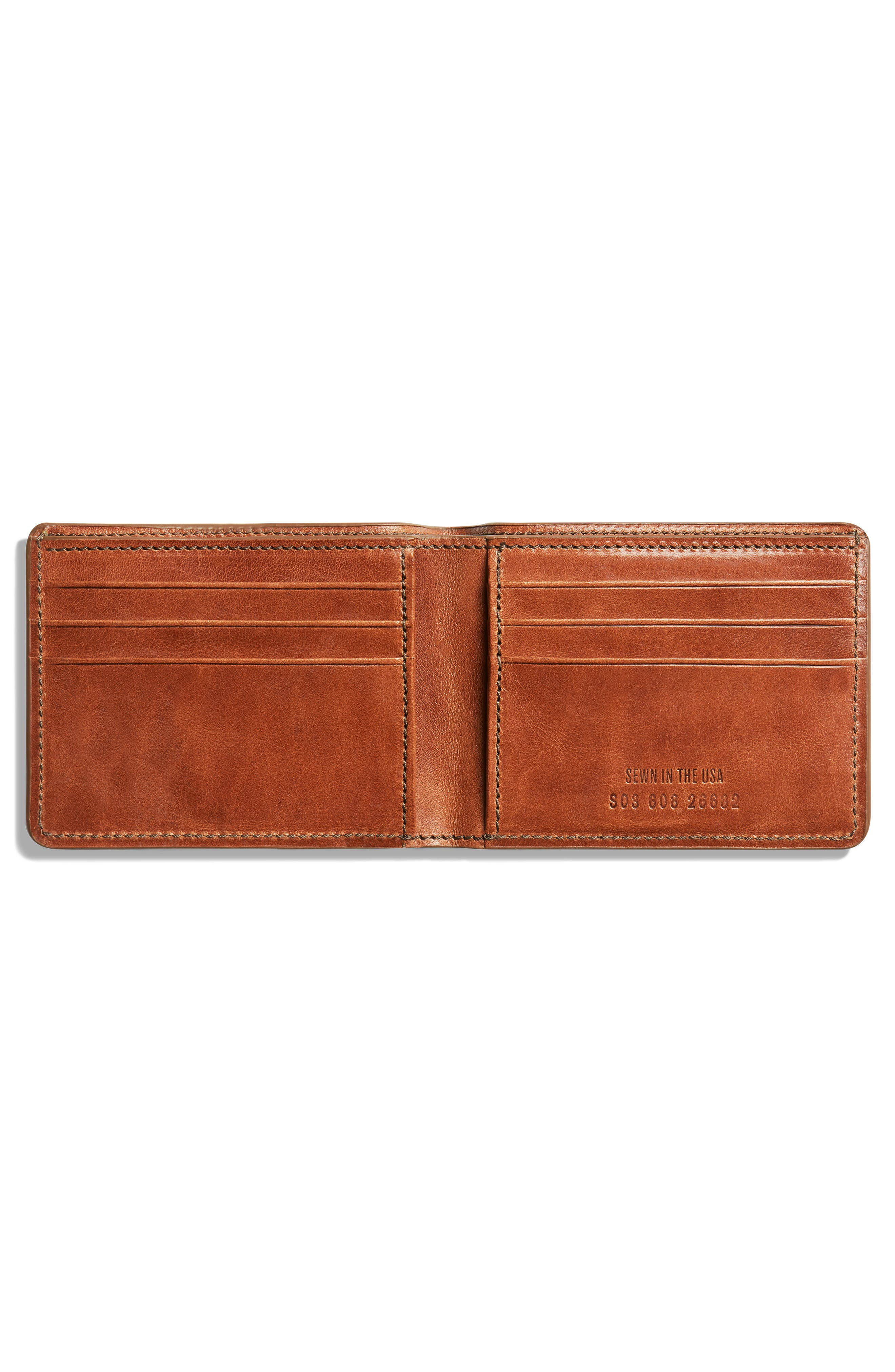 Harness Slim 2.0 Bifold Leather Wallet,                             Alternate thumbnail 2, color,                             BOURBON