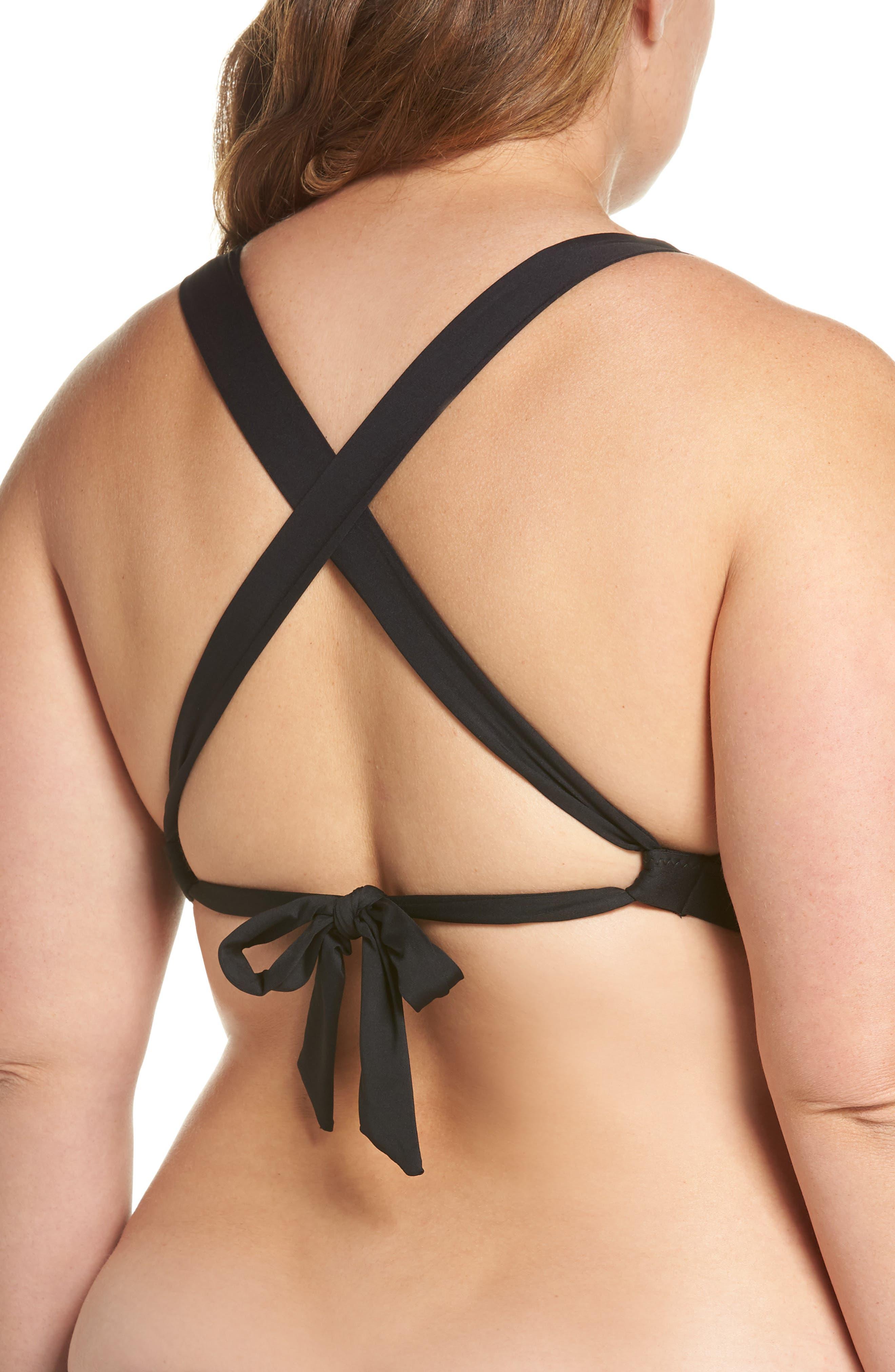 Color Code Bikini Top,                             Alternate thumbnail 2, color,                             BLACK