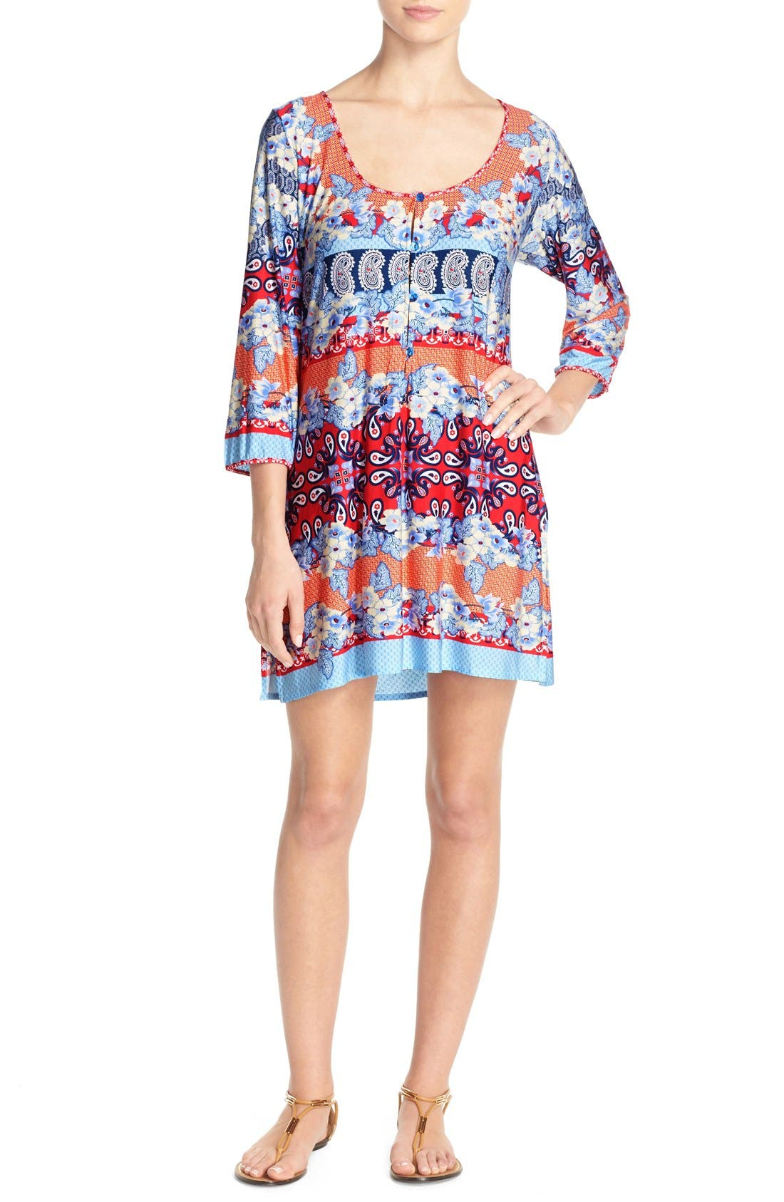 Stretch Modal Cover-Up Dress,                             Main thumbnail 1, color,                             080
