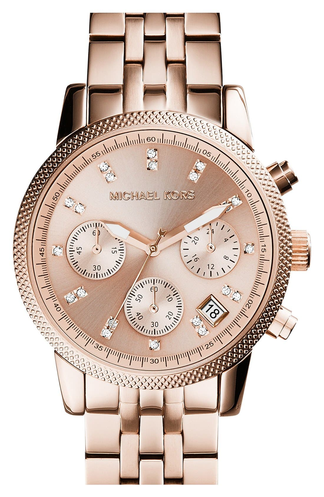 Michael Kors 'The Ritz' Chronograph Bracelet Watch, 36mm,                             Main thumbnail 5, color,