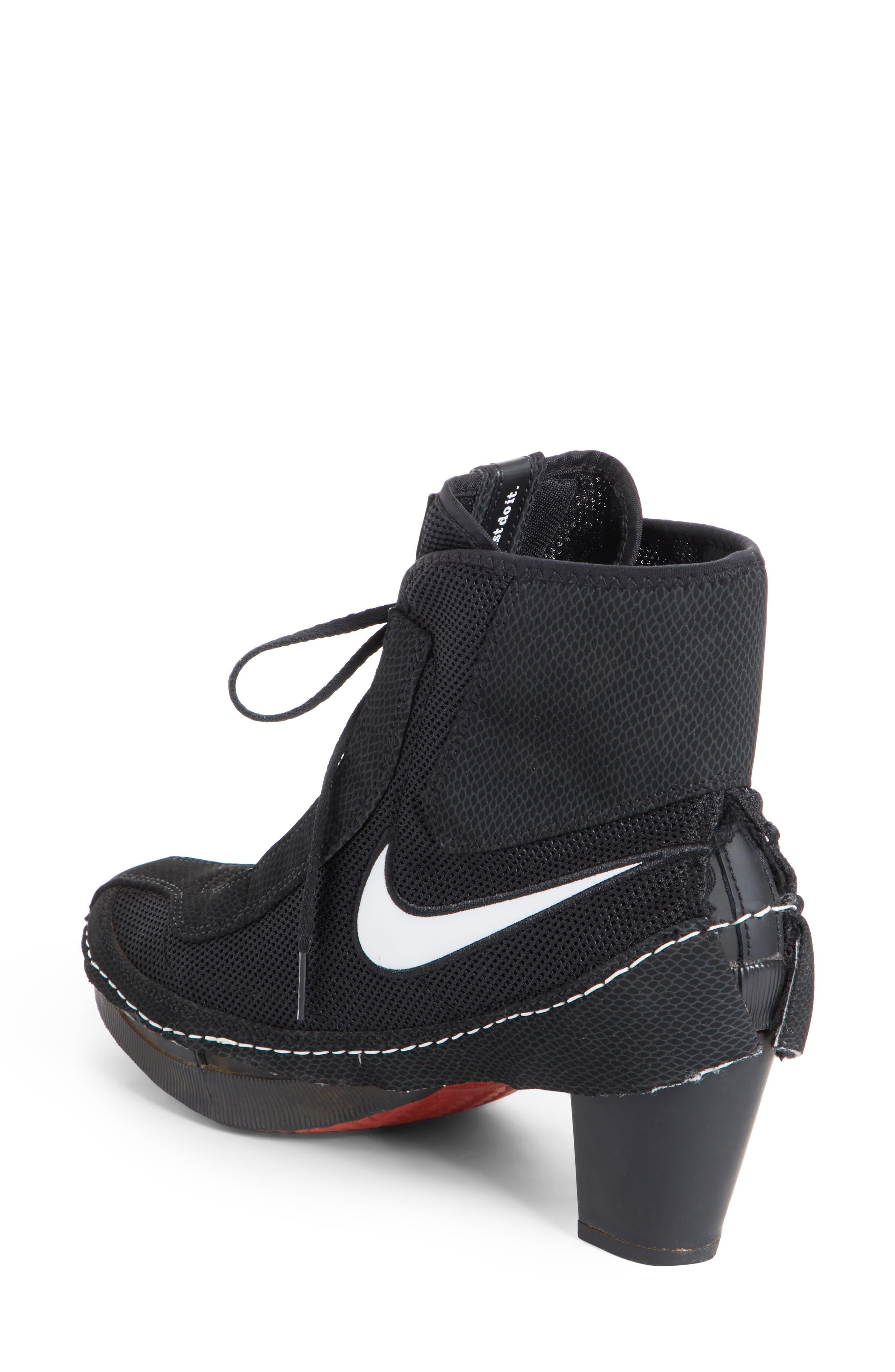 x Nike Heeled Bootie,                             Alternate thumbnail 2, color,                             BLACK