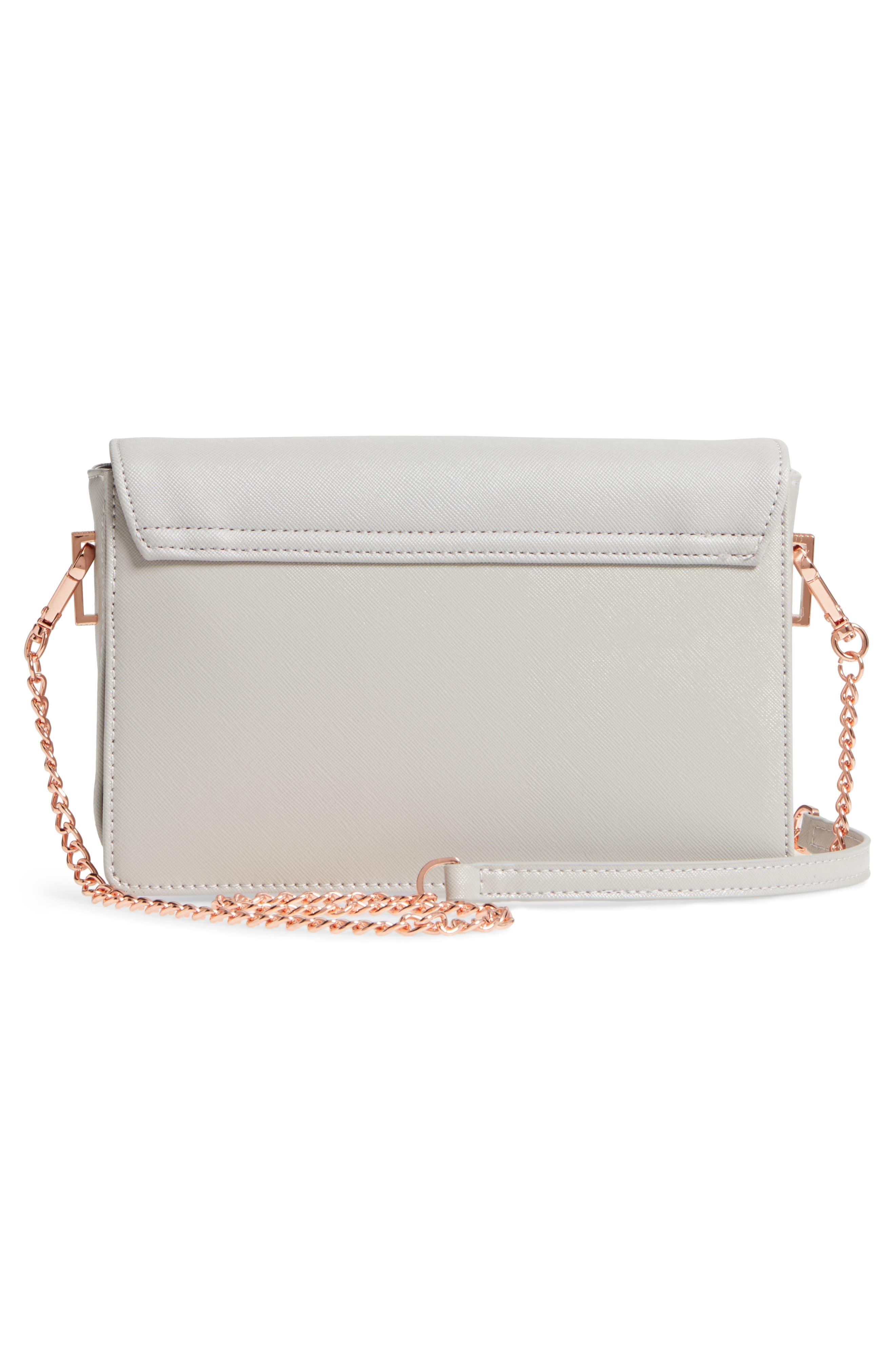 Heatha Faux Leather Crossbody Bag,                             Alternate thumbnail 8, color,