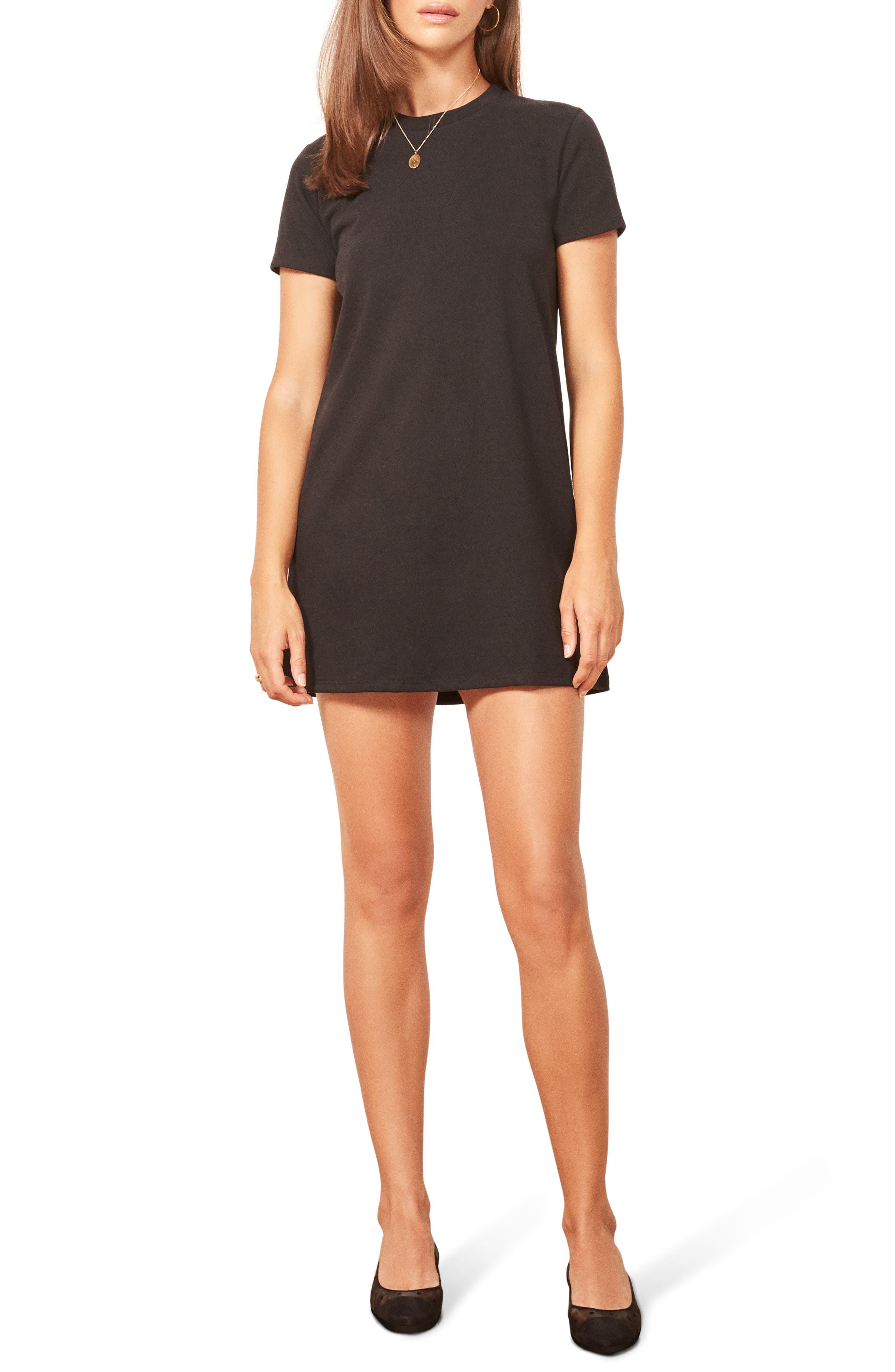 Damien T-Shirt Dress,                             Main thumbnail 1, color,                             001