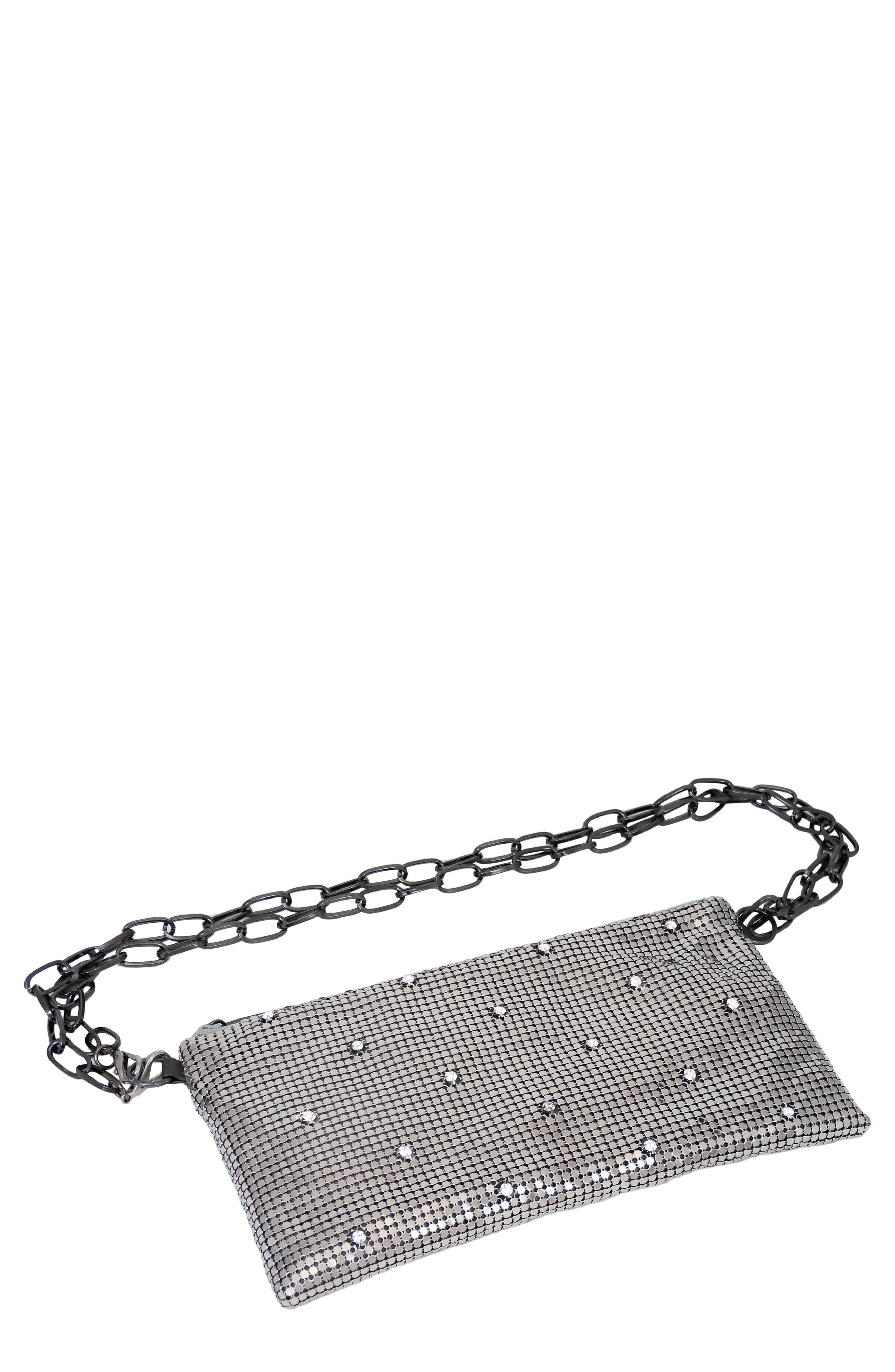Crystal Belt Bag - Grey in Pewter