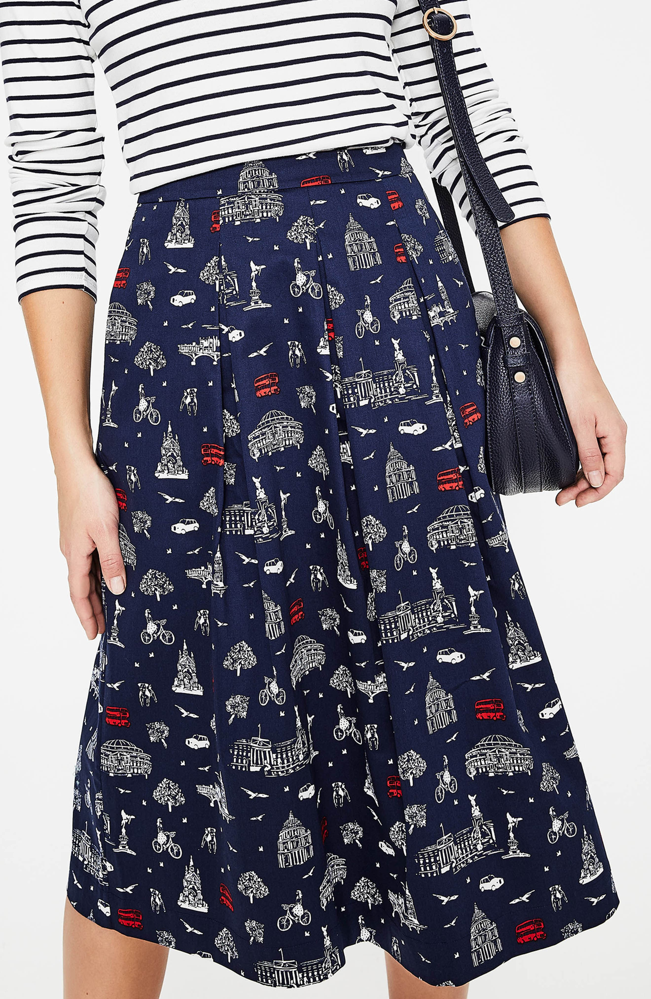 Lola Floral Flared Skirt,                             Alternate thumbnail 19, color,