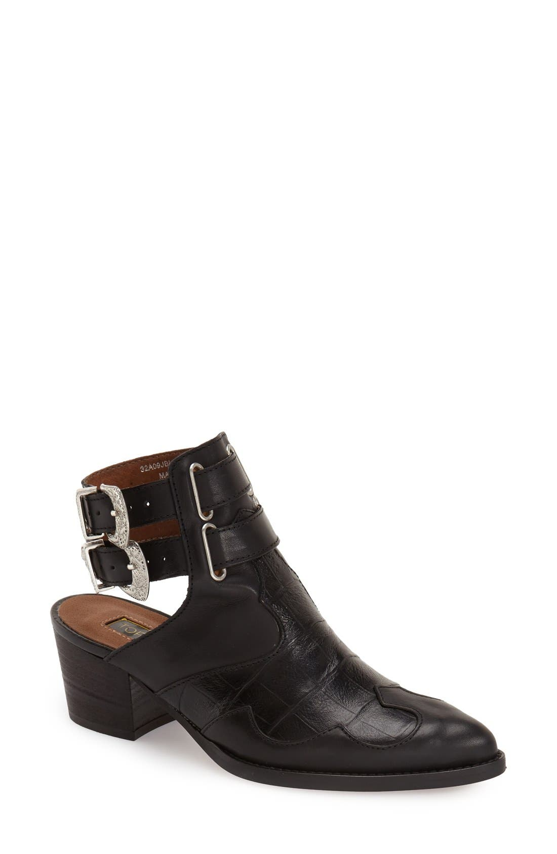 'Austin' Western Bootie,                         Main,                         color, 001